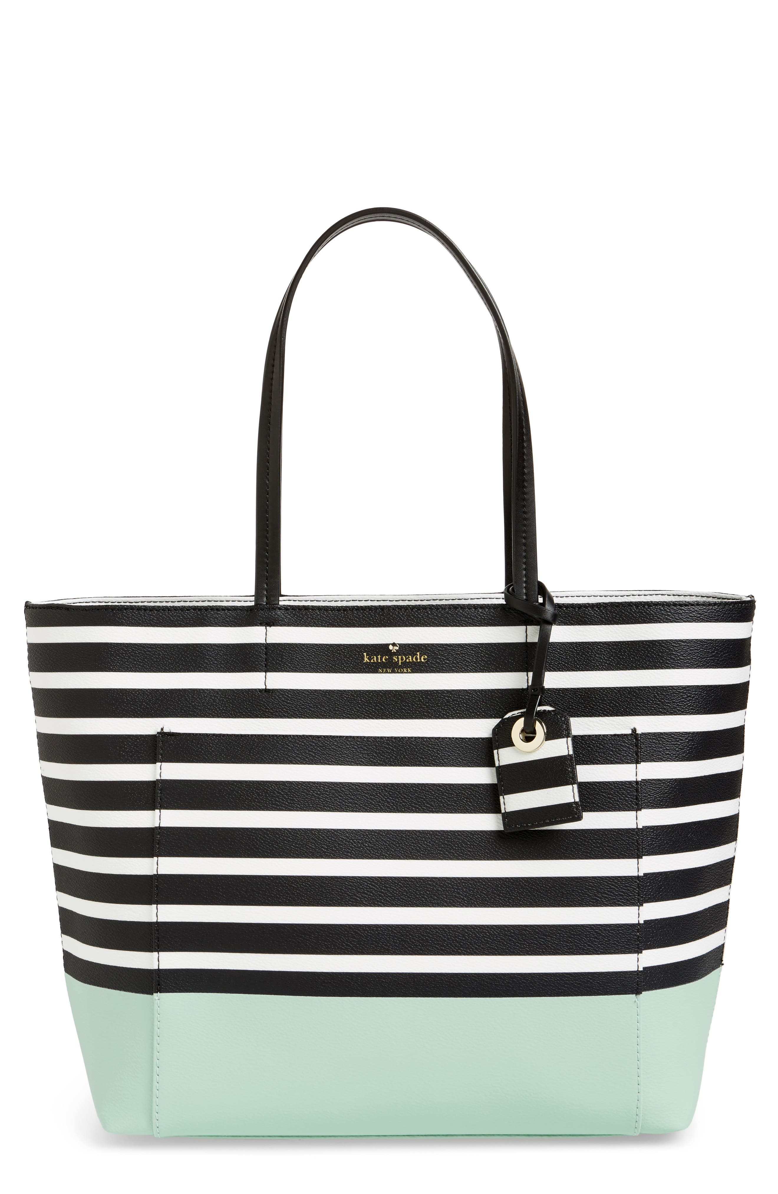hyde lane dipped stripe - riley tote,                             Main thumbnail 1, color,                             377