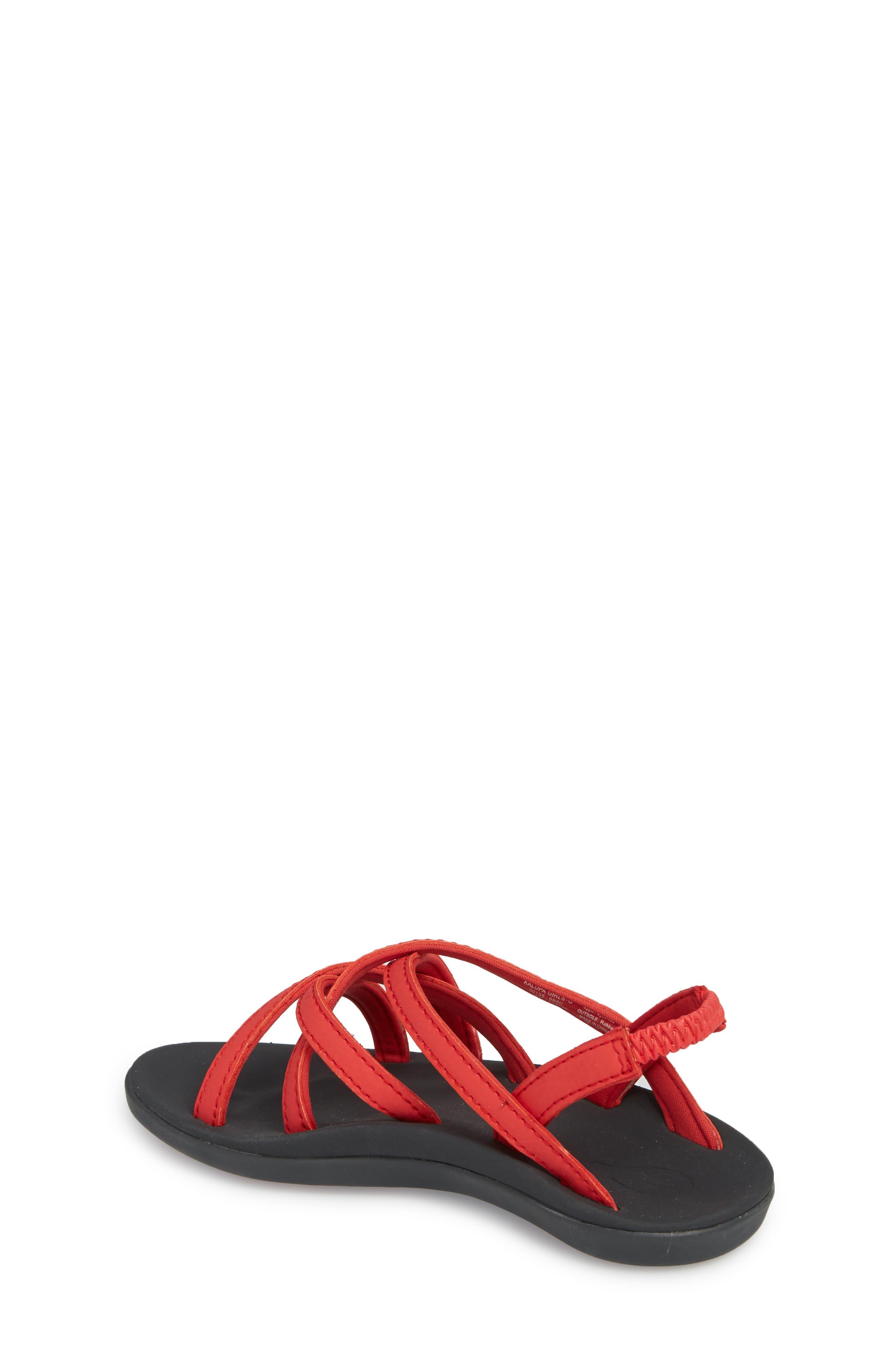 Kalapu Sandal,                             Alternate thumbnail 2, color,                             HIBISCUS/ DARK SHADOW