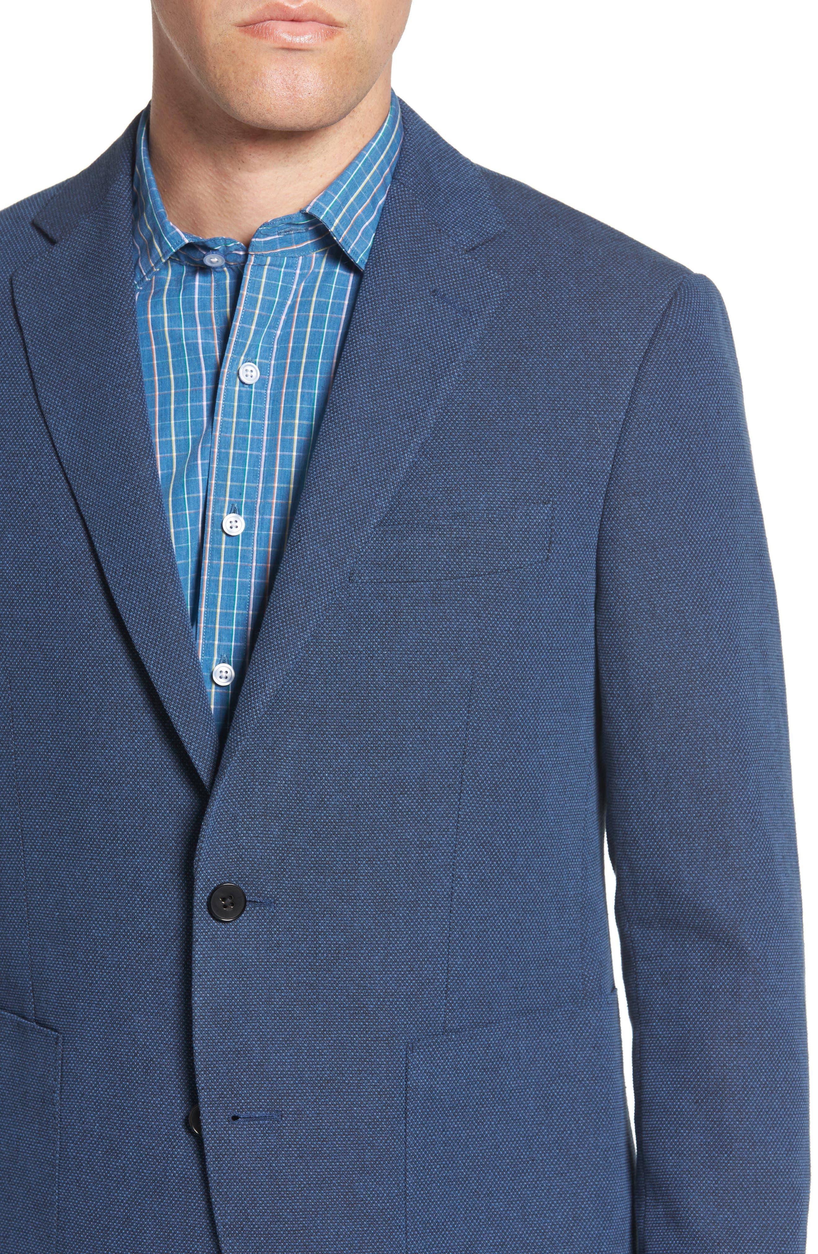 Point Break Sport Fit Cotton & Linen Blazer,                             Alternate thumbnail 4, color,                             432