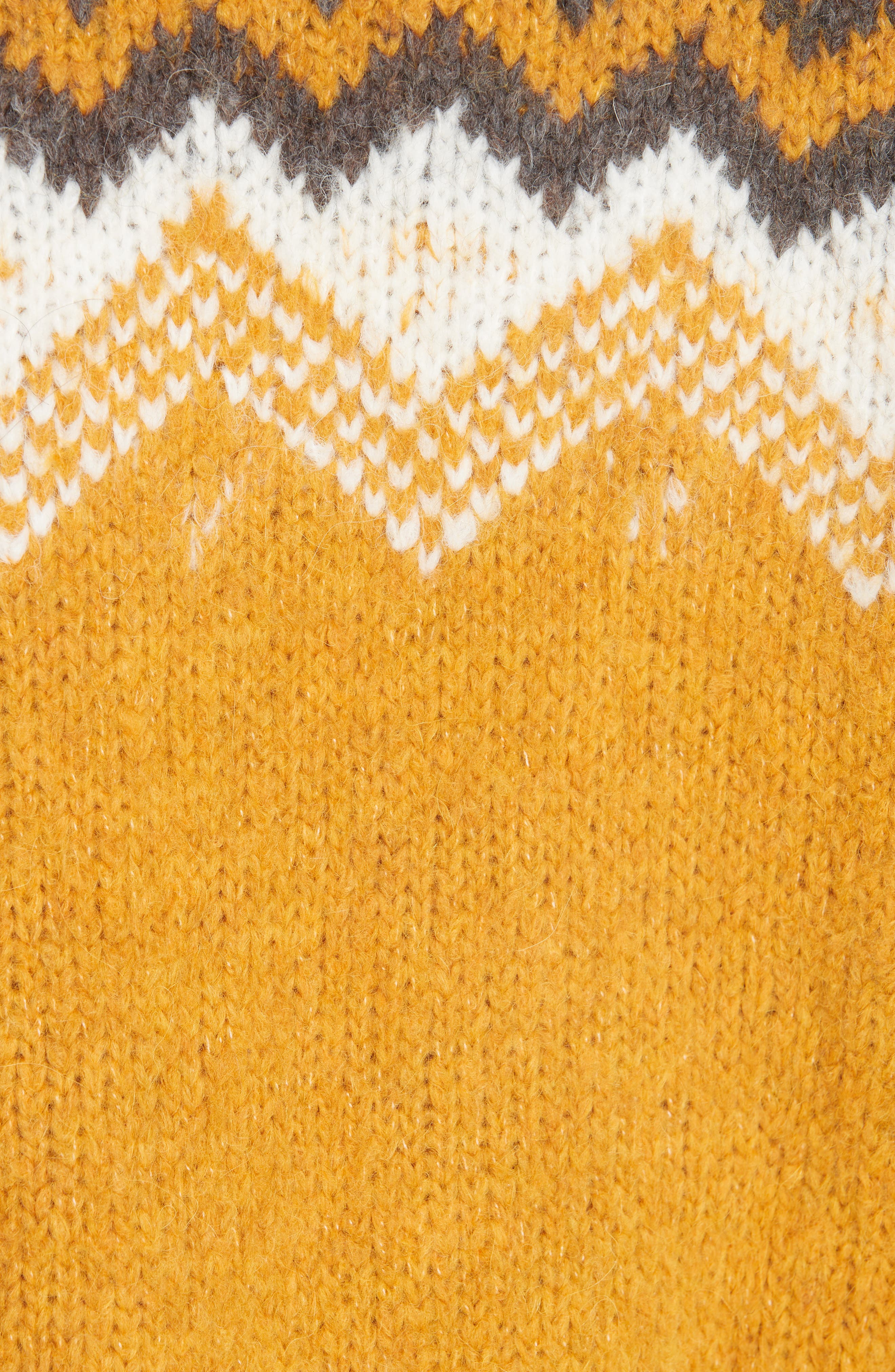 Fair Isle Shirred Sleeve Sweater,                             Alternate thumbnail 5, color,                             YELLOW
