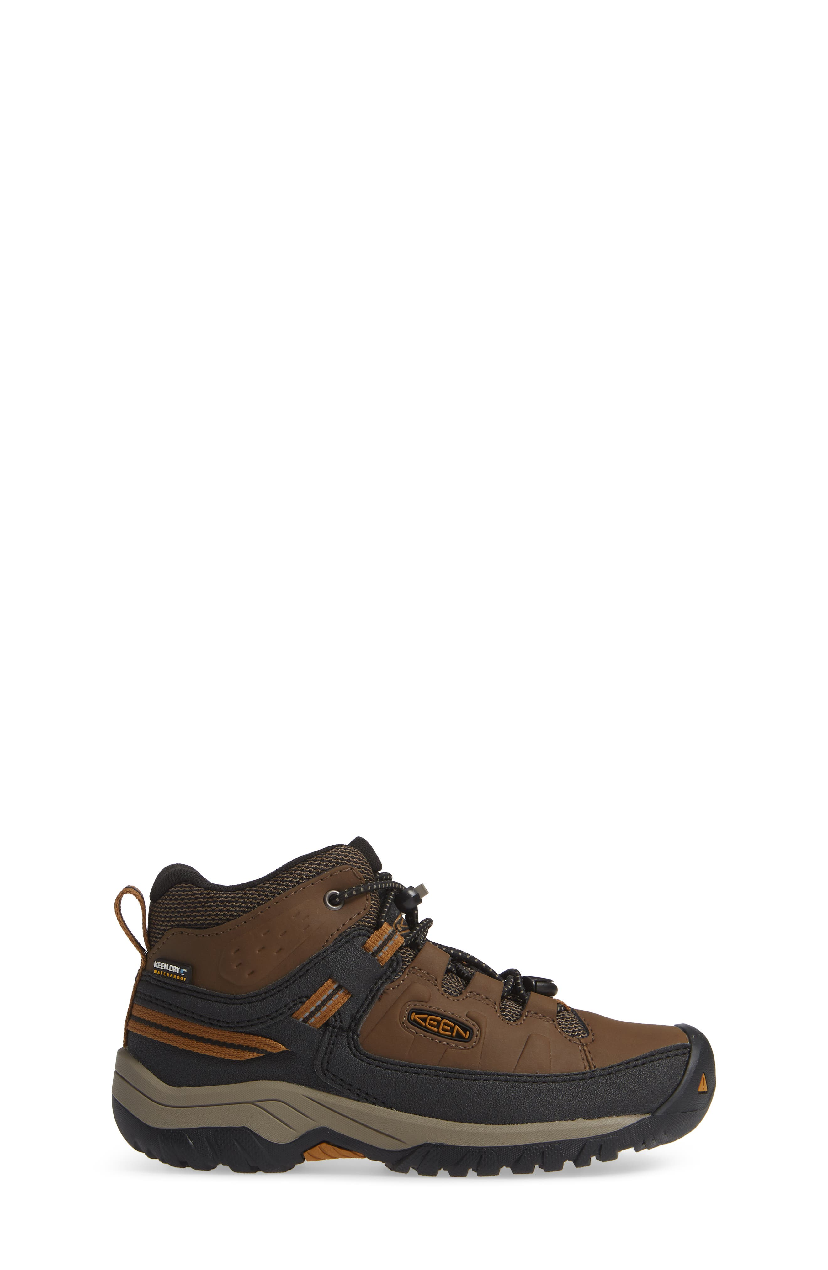 Targhee Mid Waterproof Hiking Boot,                             Alternate thumbnail 3, color,                             DARK EARTH/ GOLDEN BROWN