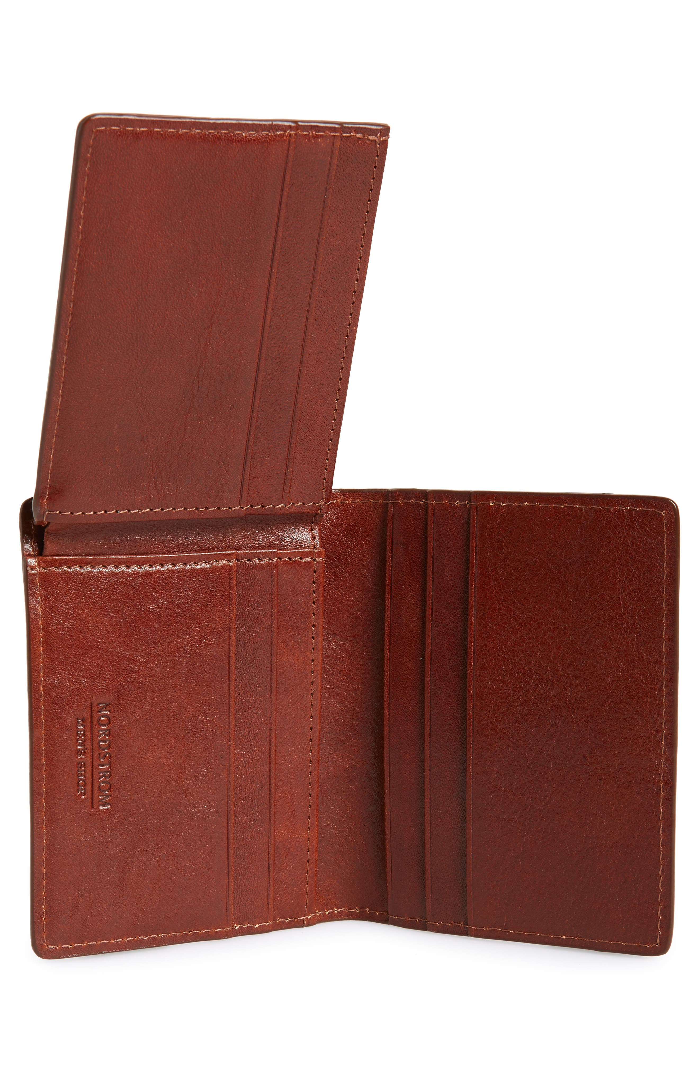 Richmond Leather Wallet,                             Alternate thumbnail 4, color,                             BROWN HENNA