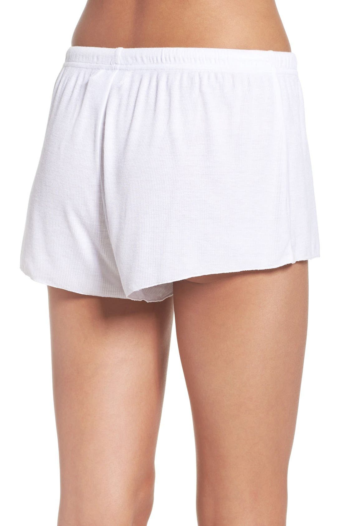 BAREFOOT DREAMS<SUP>®</SUP>,                             Luxe Lounge Shorts,                             Alternate thumbnail 2, color,                             100