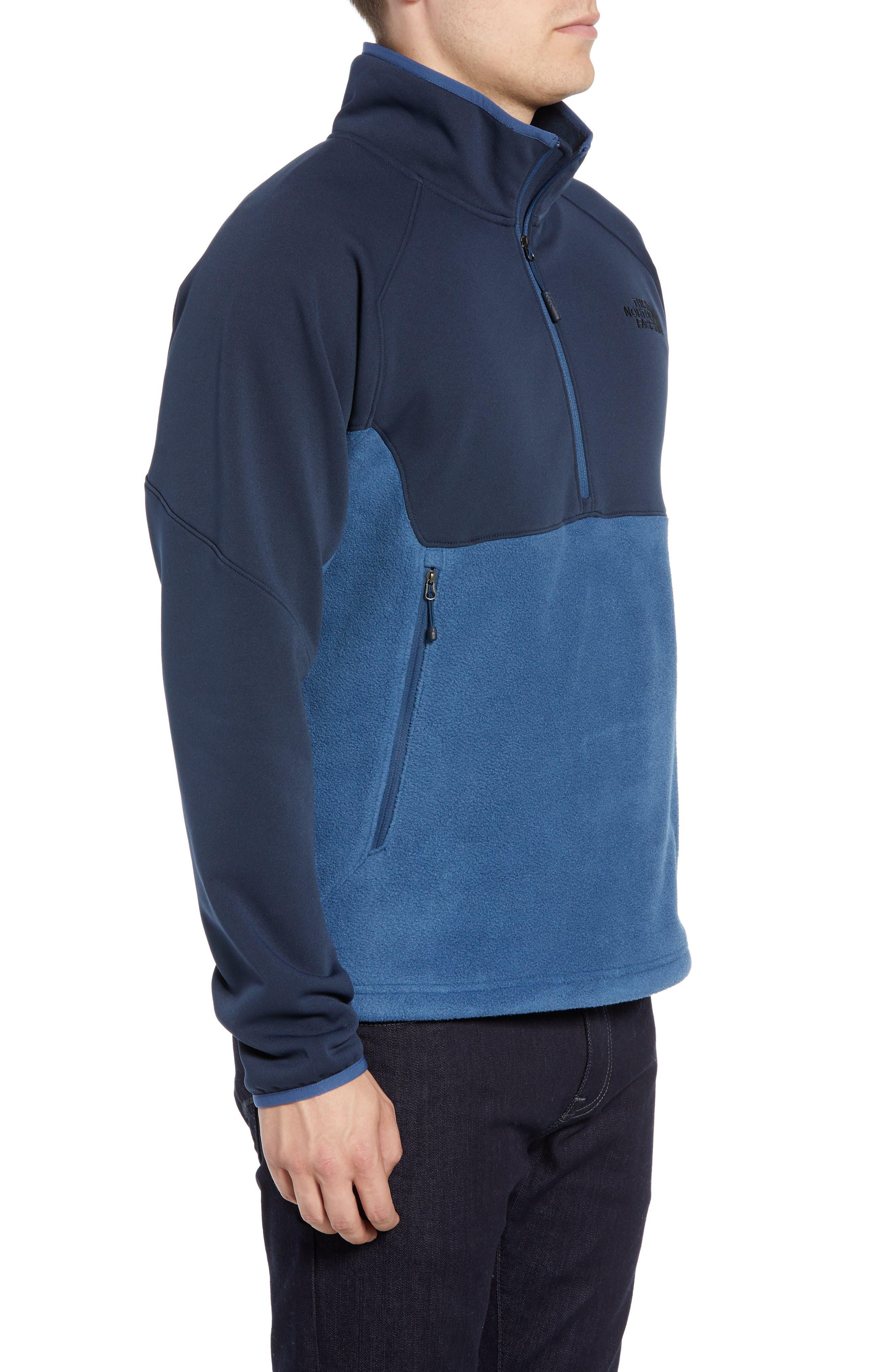Tolmiepeak Hybrid Half-Zip Pullover,                             Alternate thumbnail 3, color,                             SHADY BLUE/ URBAN NAVY