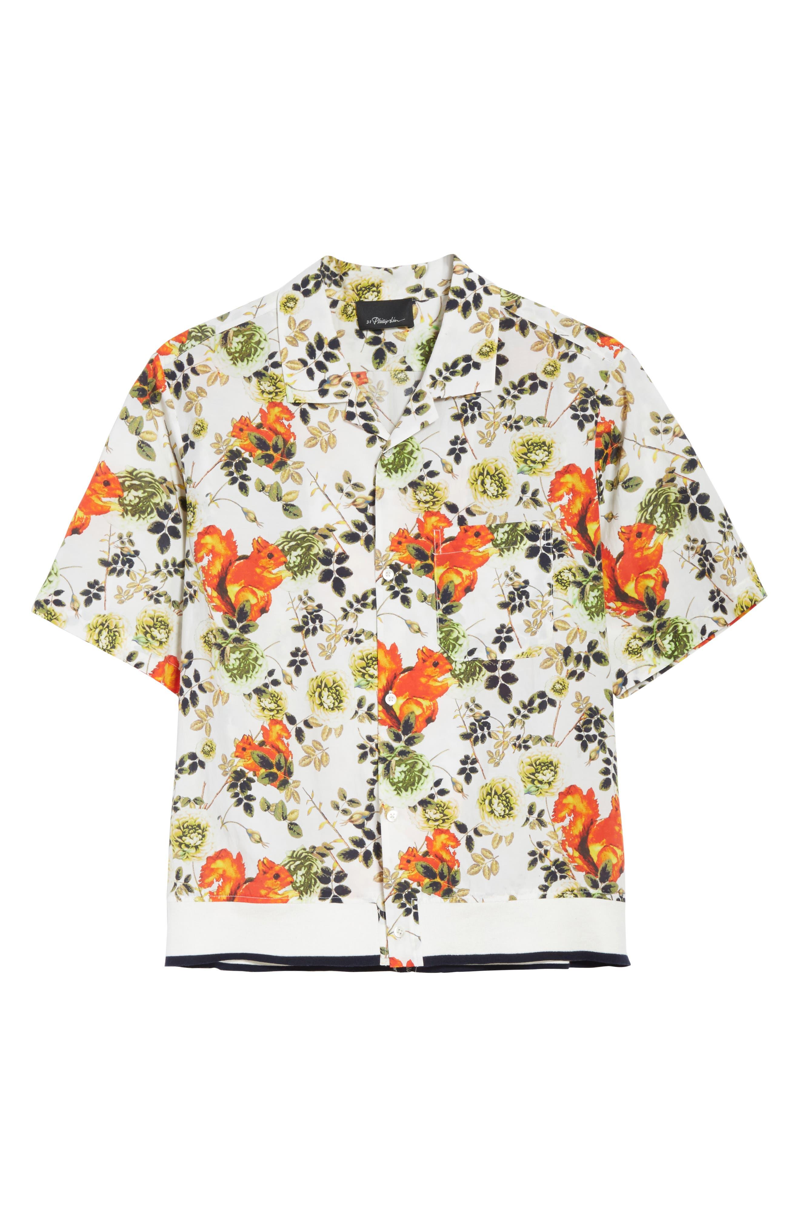 Floral Souvenir Shirt,                             Alternate thumbnail 6, color,                             191