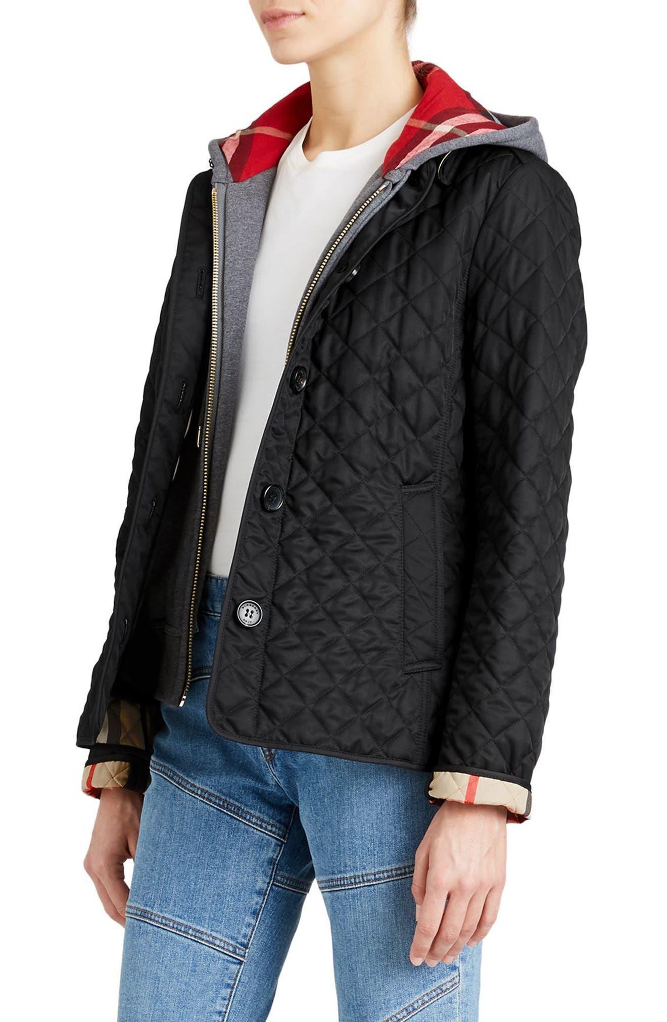 Ashurst Quilted Jacket,                             Alternate thumbnail 3, color,                             BLACK