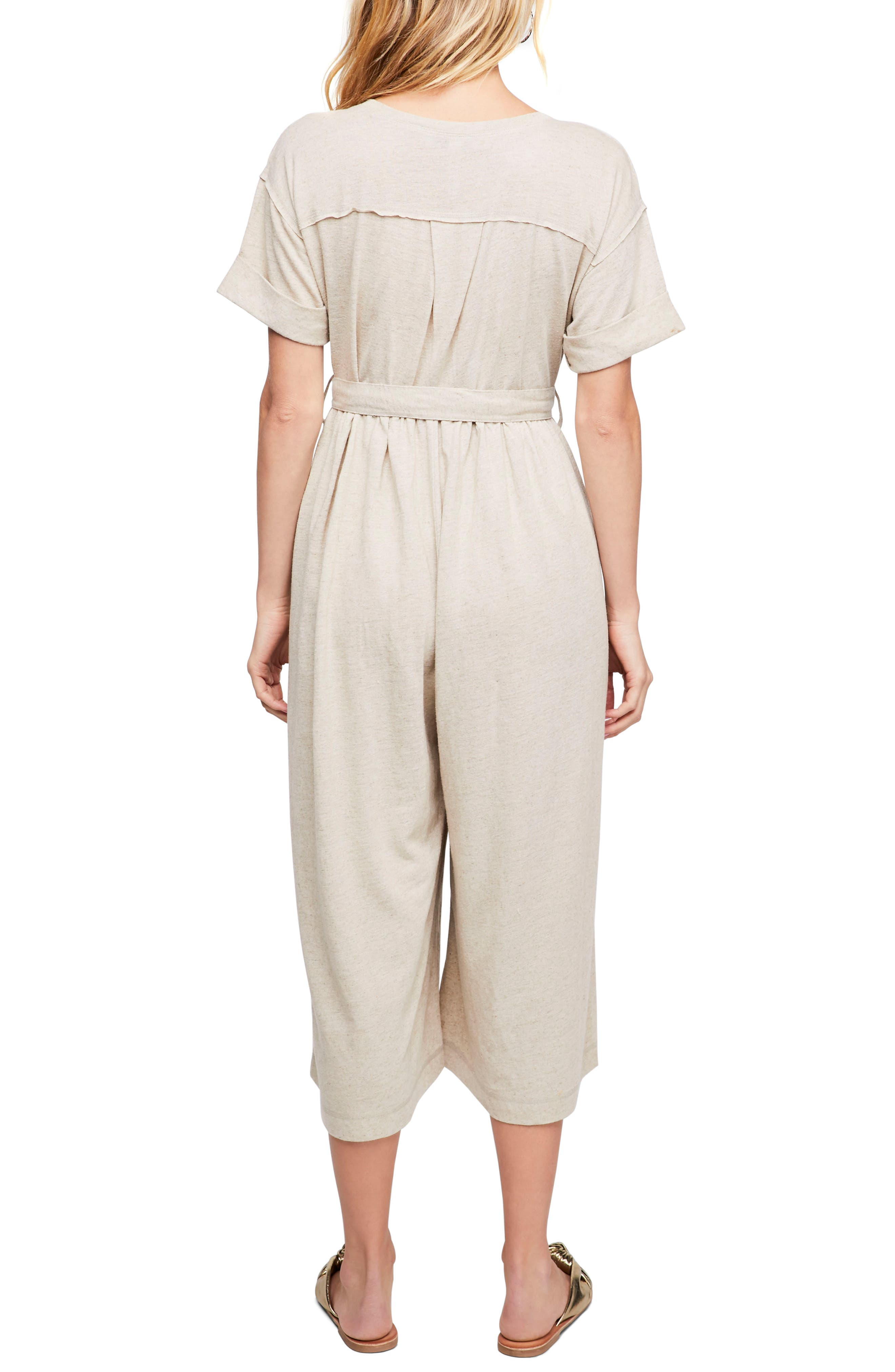 Endless Summer by Free People Lighthouse Crop Jumpsuit,                             Alternate thumbnail 2, color,                             902