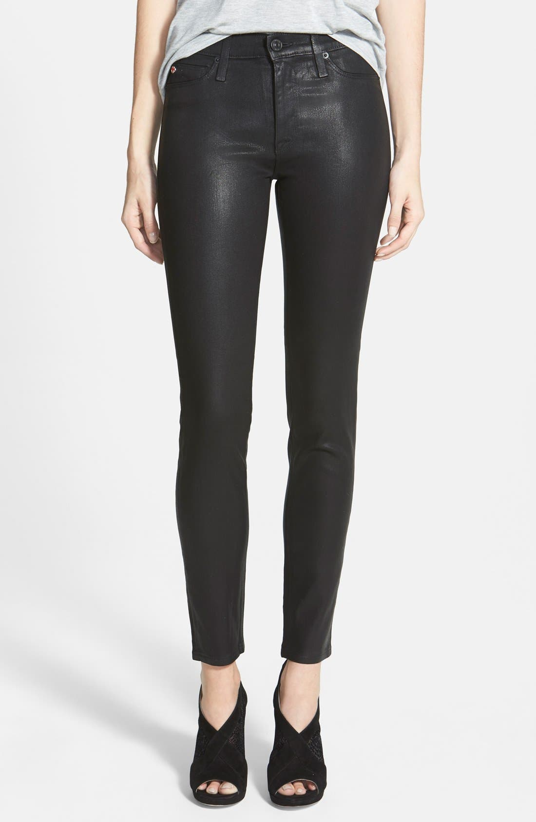 'Nico' Mid Rise Skinny Stretch Jeans,                             Main thumbnail 1, color,                             001