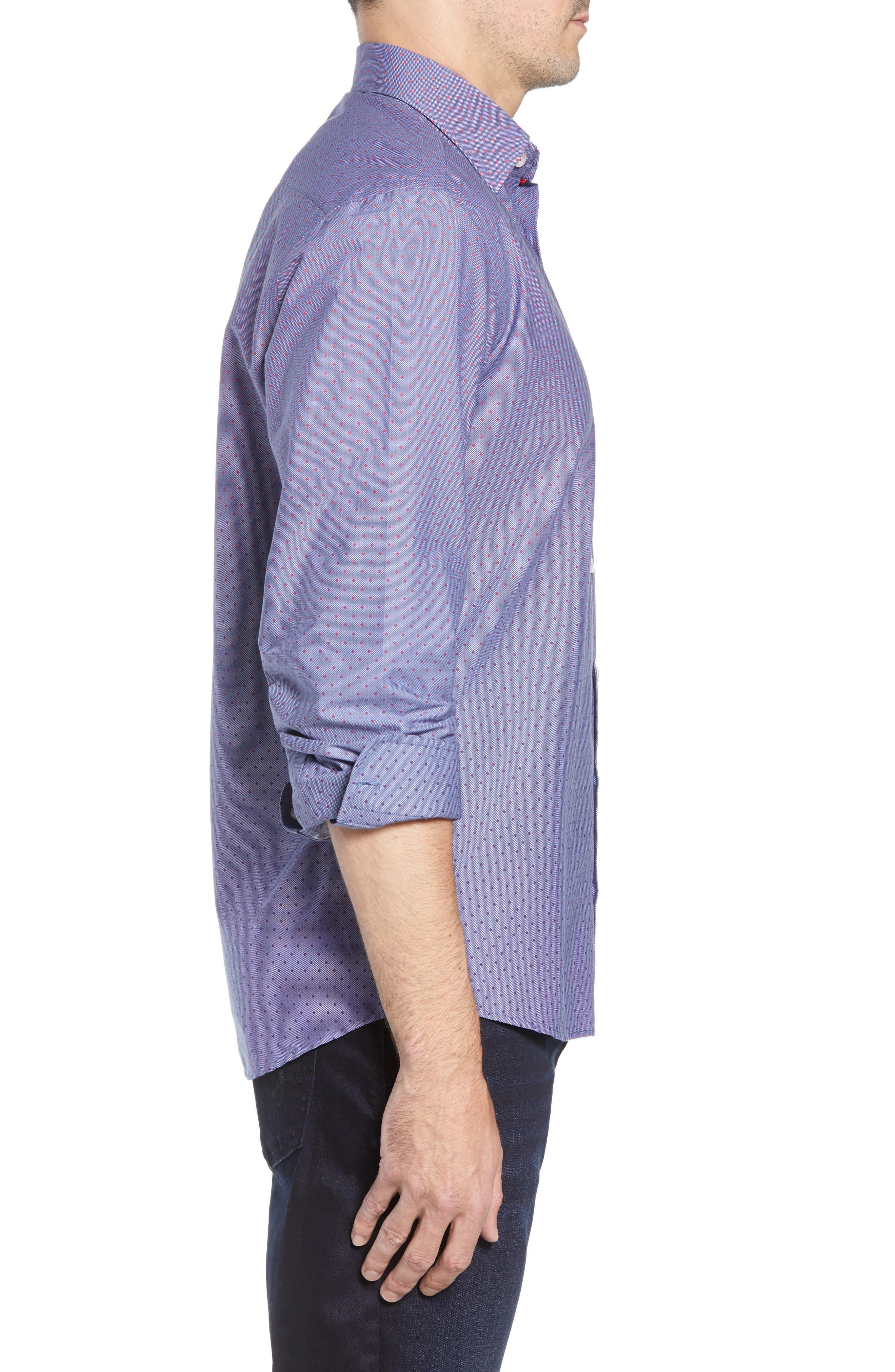 STONE ROSE,                             Gradient Dot Regular Fit Sport Shirt,                             Alternate thumbnail 4, color,                             400