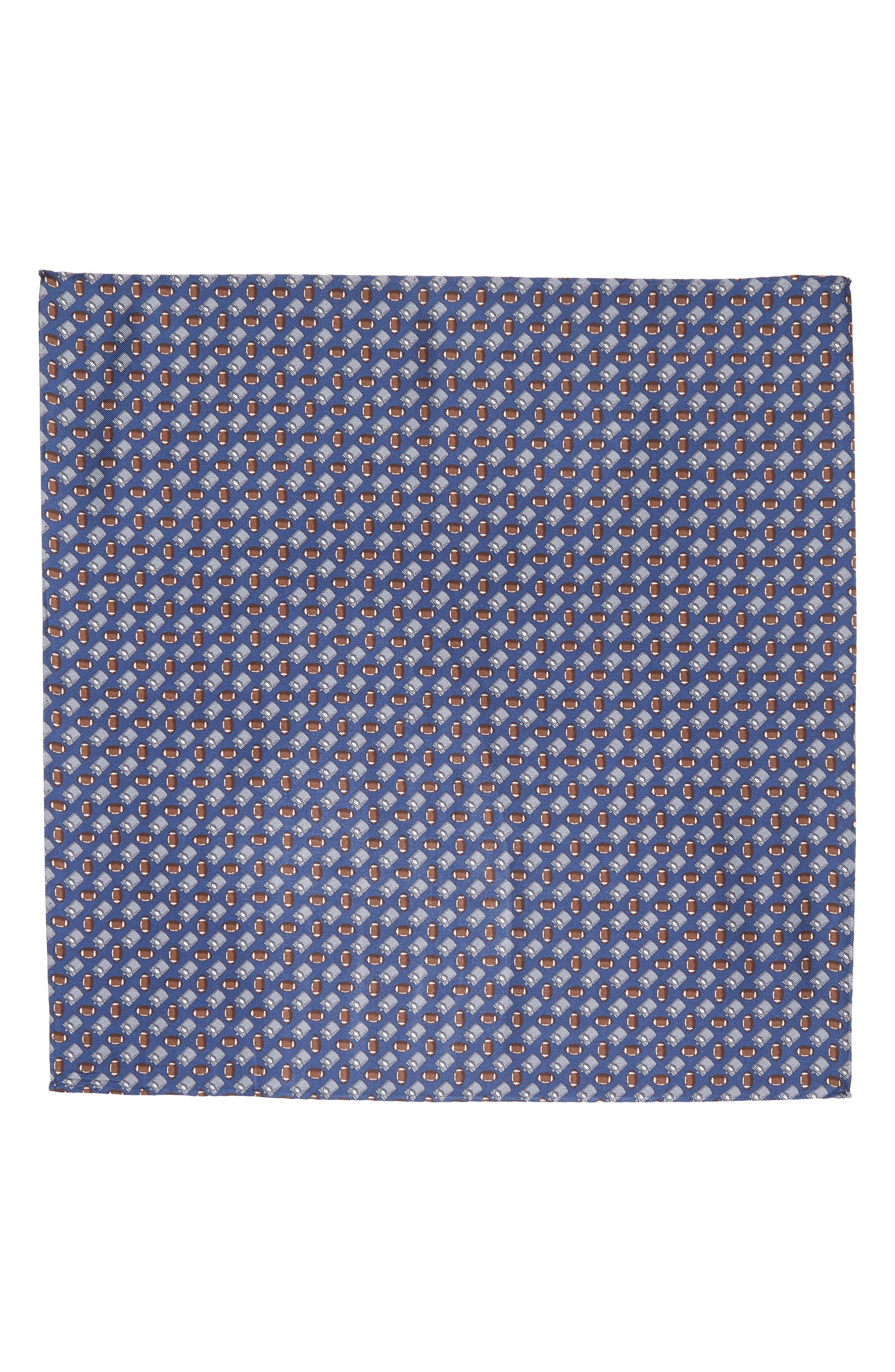 LAZYJACK PRESS,                             Tailgating Silk Pocket Square,                             Alternate thumbnail 2, color,                             410