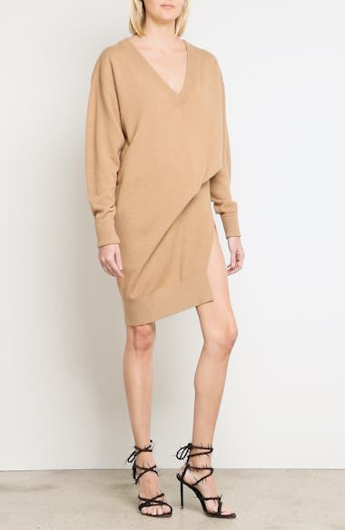 Alternate Video 7  - Alexander Wang Asymmetrical Wool & Cashmere Blend Sweater Dress