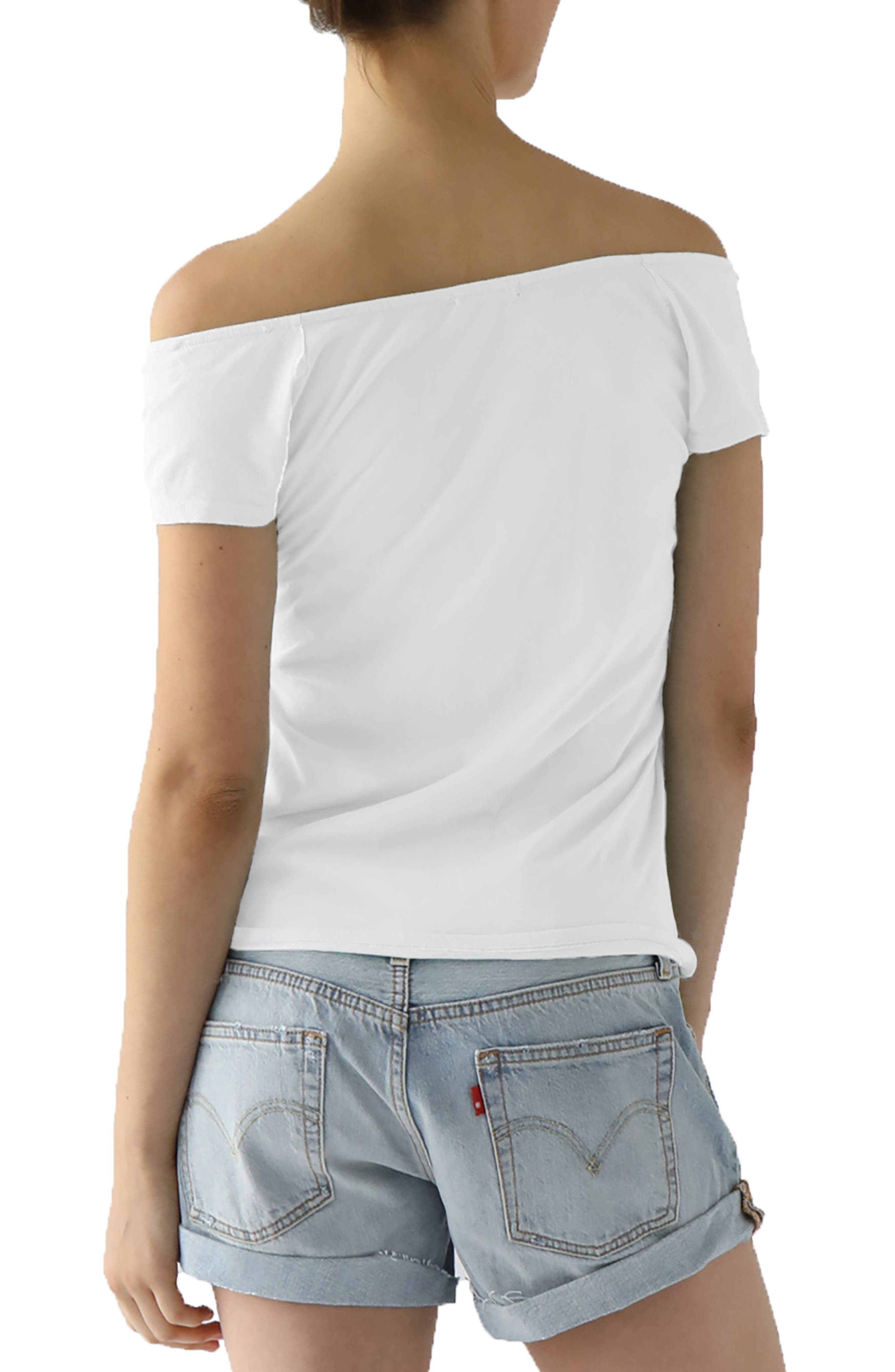 Imelda Tissue Jersey Off the Shoulder Tee,                             Alternate thumbnail 7, color,