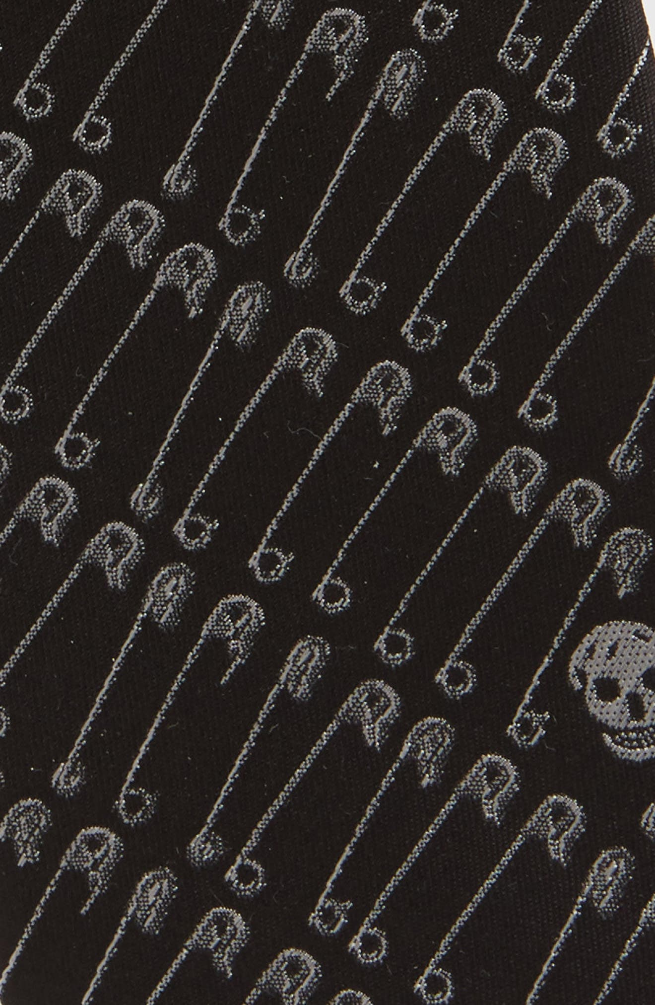CR Punk Silk Tie,                             Alternate thumbnail 2, color,                             001
