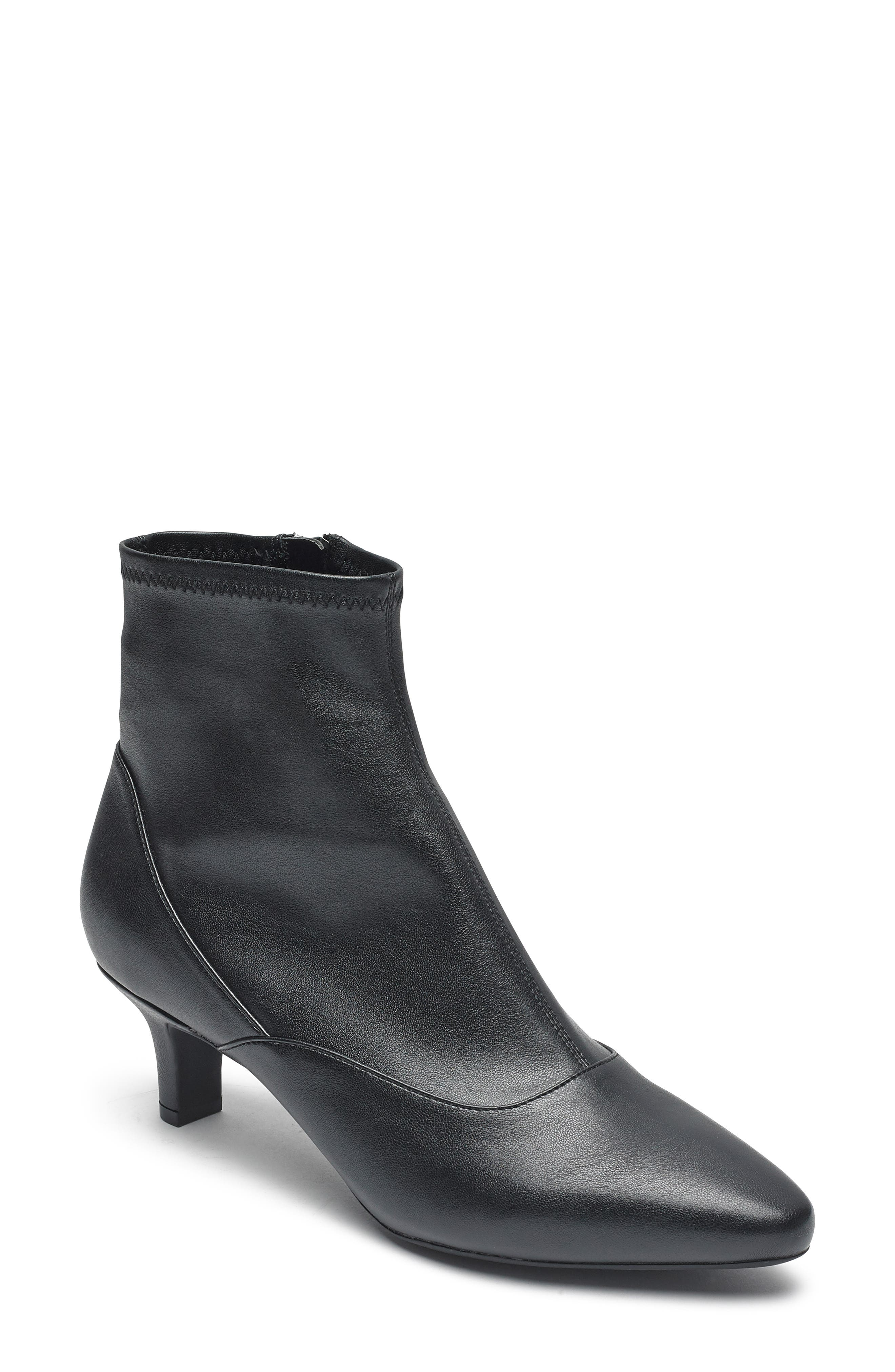 Kimly Stretch Bootie,                             Main thumbnail 1, color,                             BLACK STRETCH