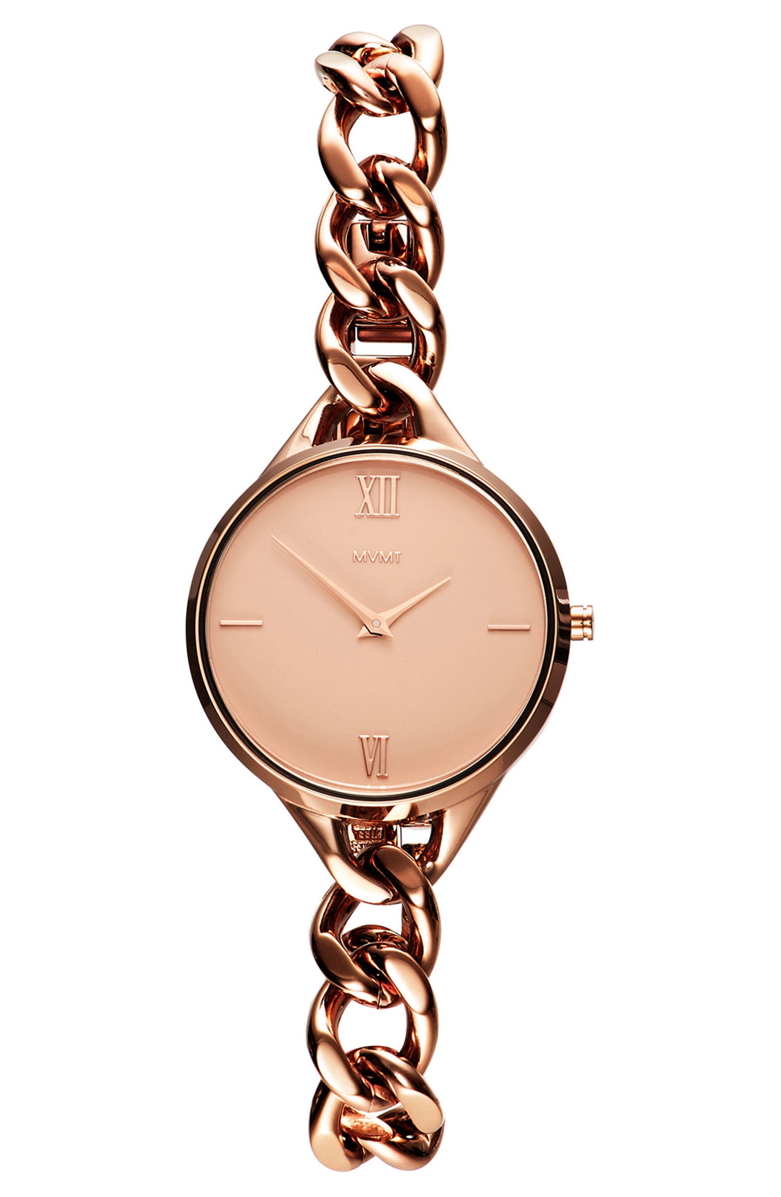 Gala Chain Bracelet Watch, 32mm,                         Main,                         color, ROSE GOLD