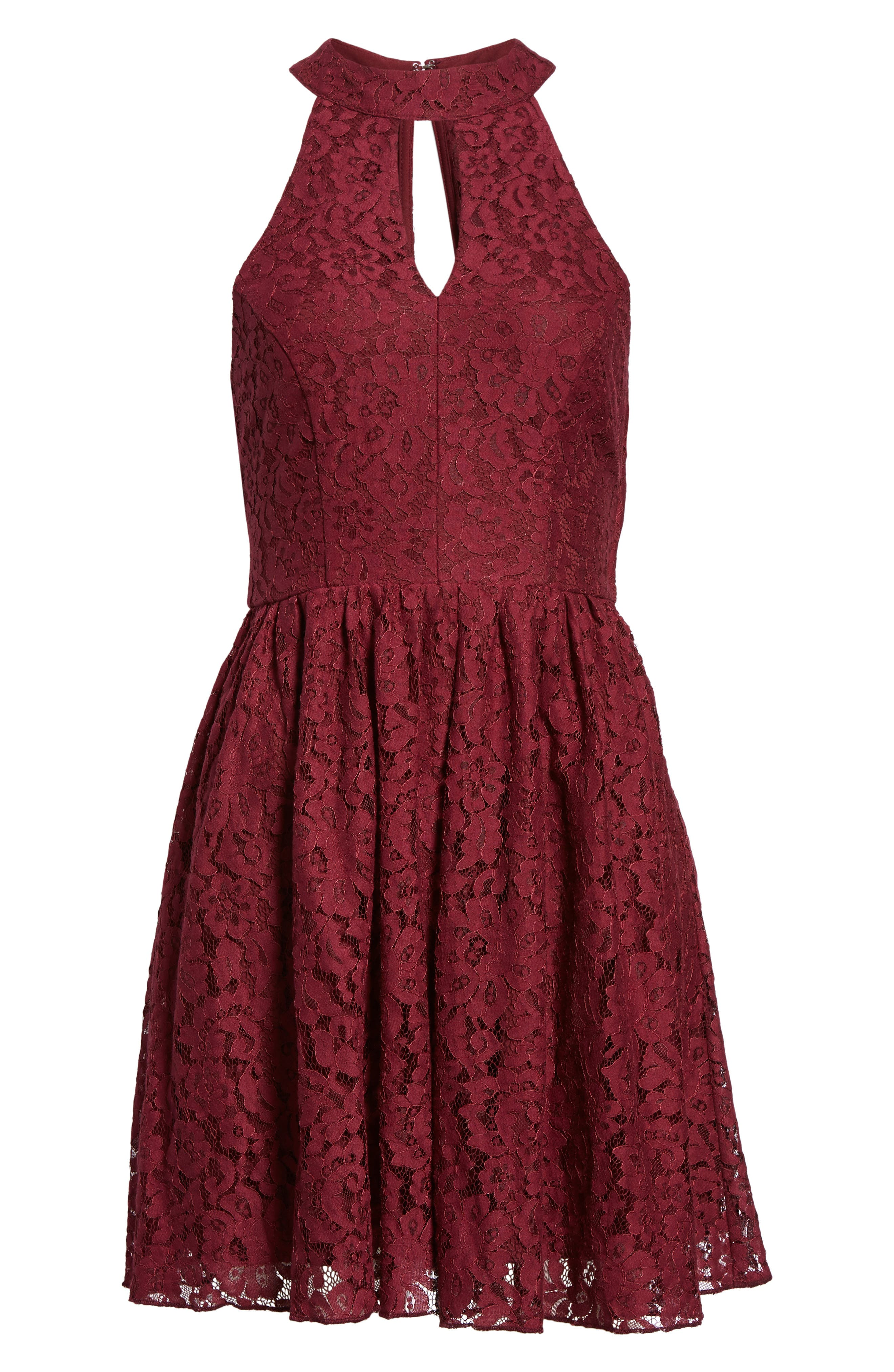 Gigi Lace Fit & Flare Dress,                             Alternate thumbnail 12, color,