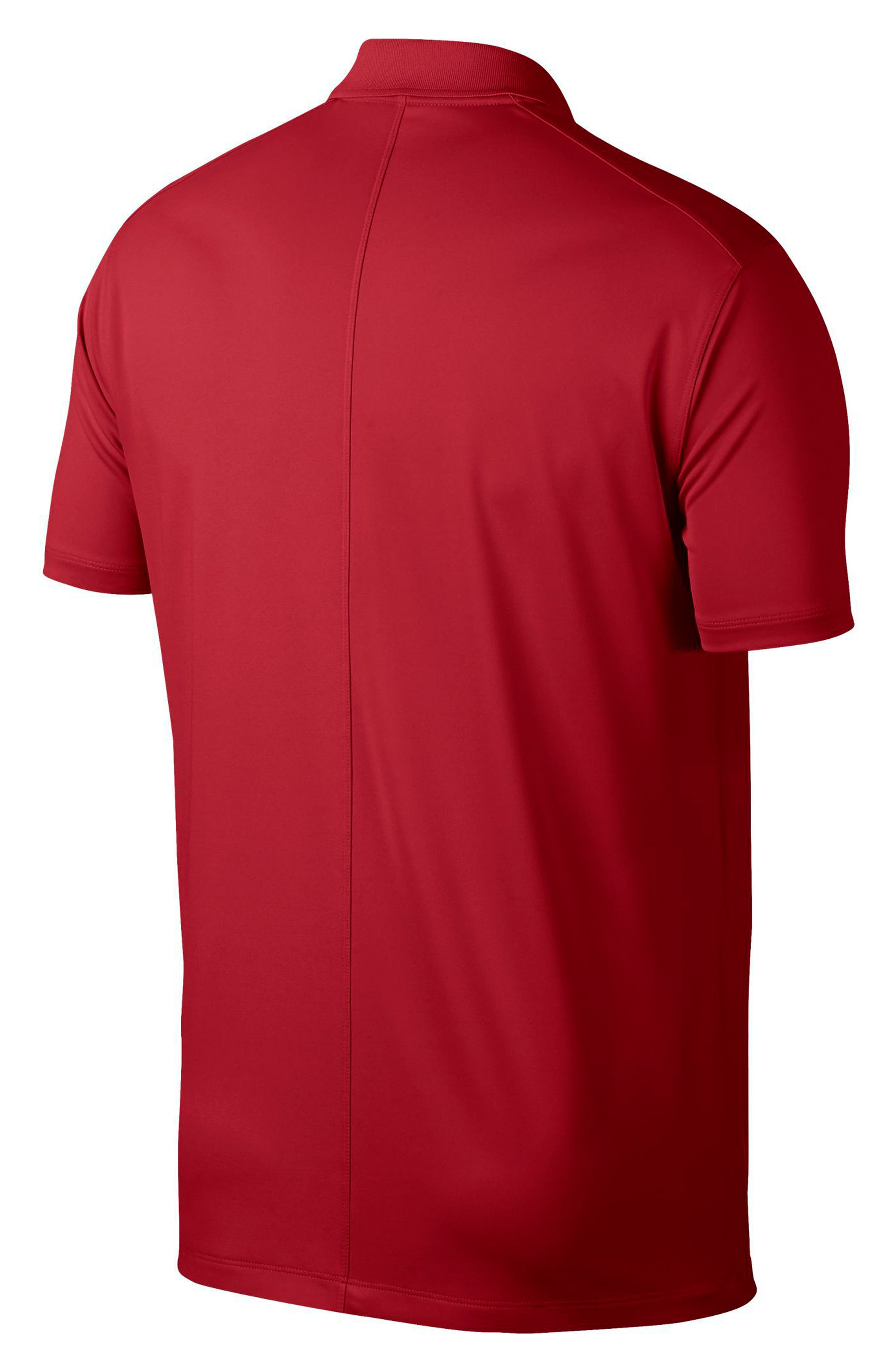 Dry Victory Golf Polo,                             Alternate thumbnail 4, color,                             UNIVERSITY RED/ BLACK