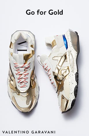 Go for gold: men's shoes and designer shoes.