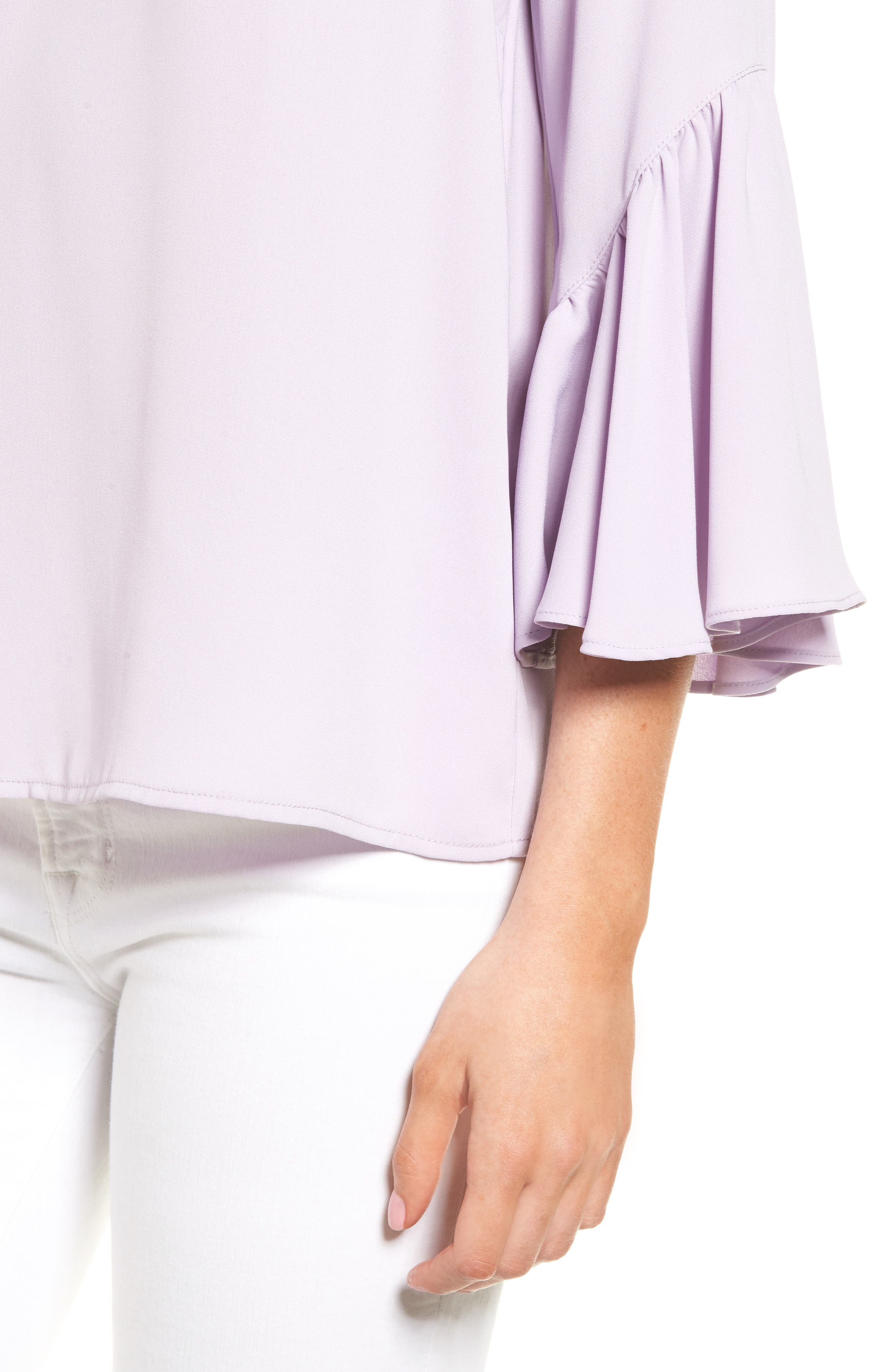 Asymmetrical Bell Sleeve Top,                             Alternate thumbnail 4, color,                             530