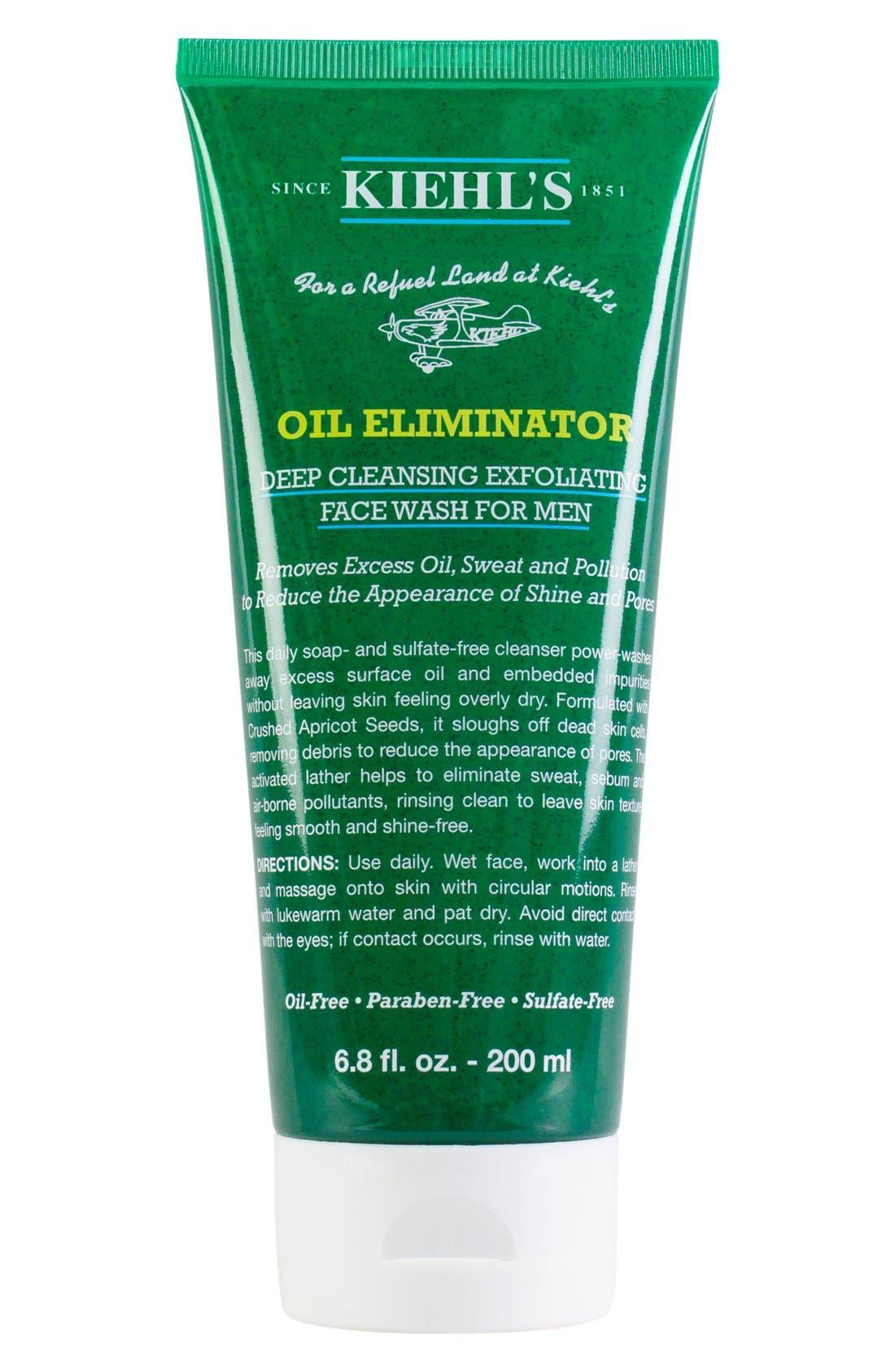 KIEHL'S SINCE 1851,                             'Oil Eliminator' Deep Cleansing Exfoliating Face Wash for Men,                             Main thumbnail 1, color,                             NO COLOR