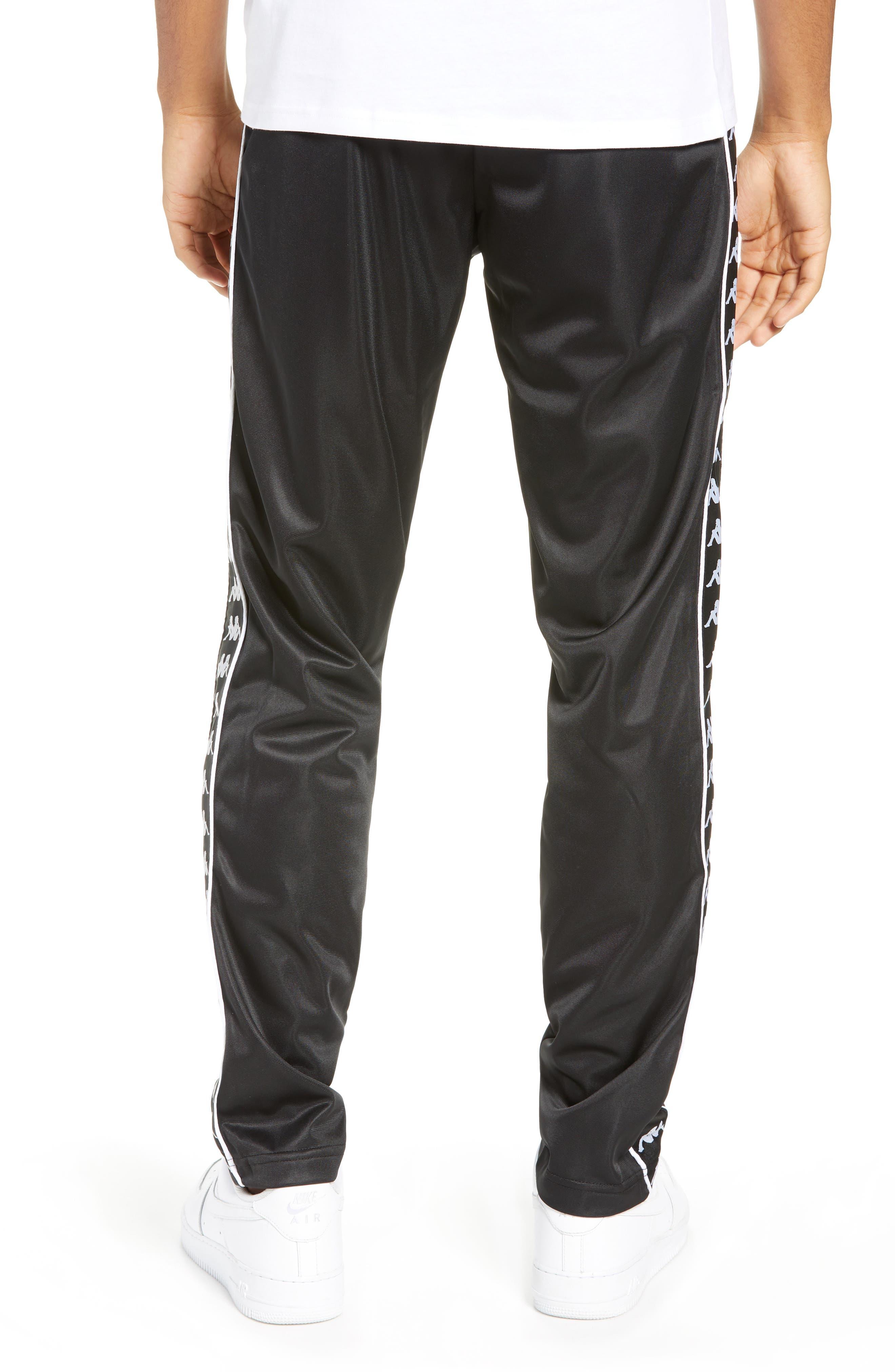 Authentic Fairfax Side Stripe Slim Track Pants,                             Alternate thumbnail 2, color,                             BLACK/ WHITE