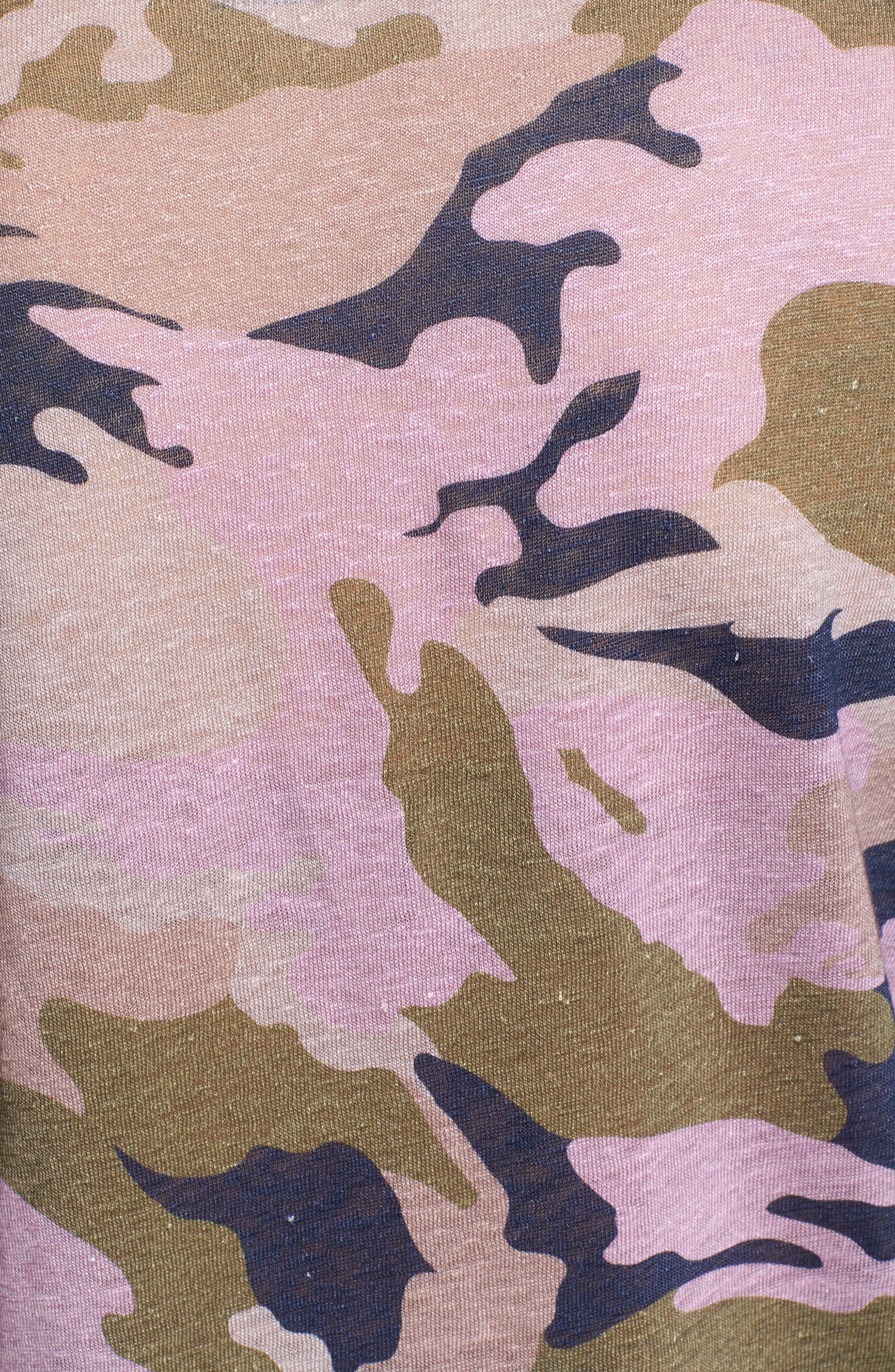 Willy Camo Linen Top,                             Alternate thumbnail 5, color,                             MULTI