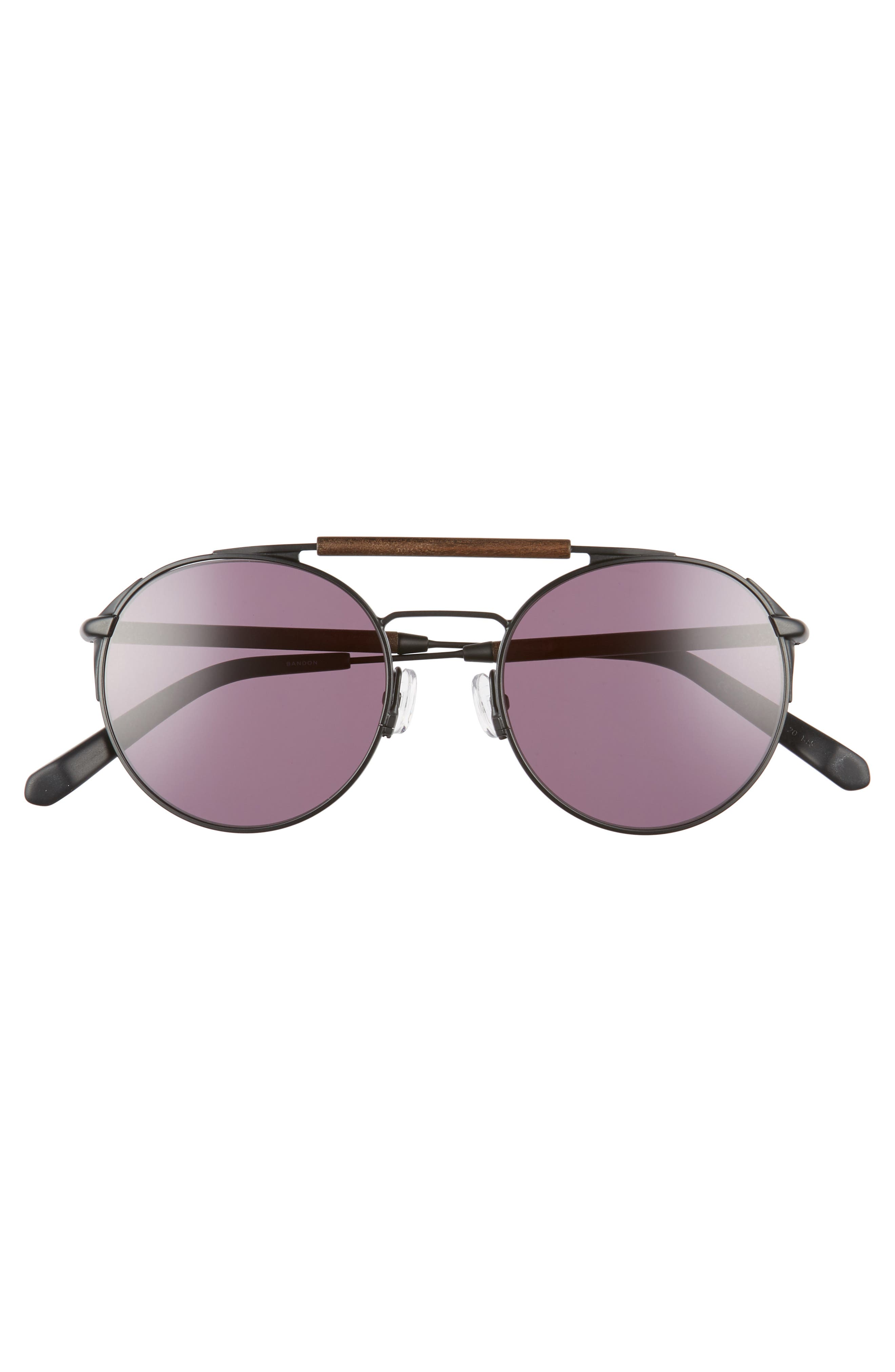 Bandon 52mm Round Sunglasses,                             Alternate thumbnail 6, color,