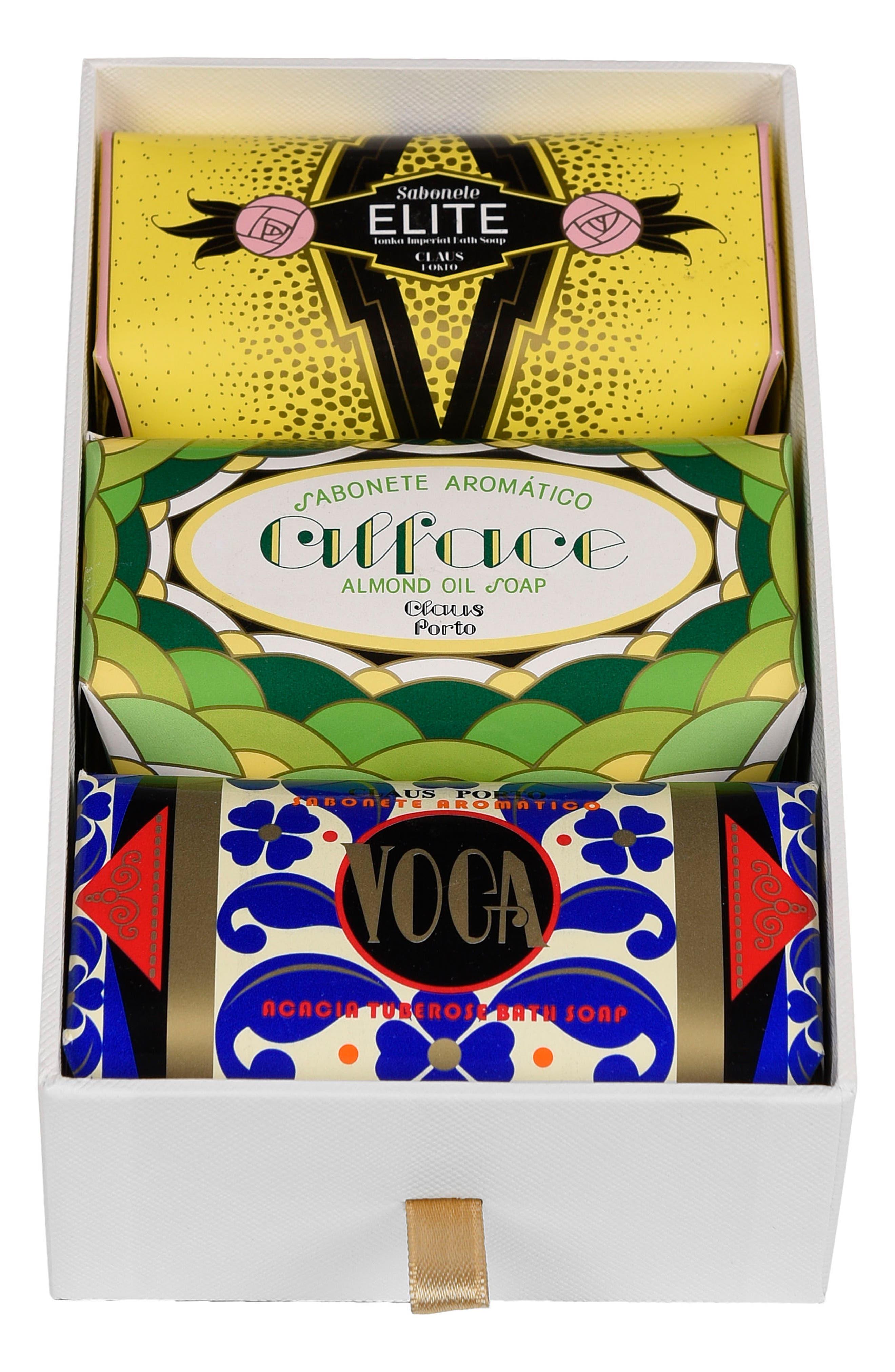 CLAUS PORTO,                             Deco - Elite, Alface & Voga Soap Trio,                             Main thumbnail 1, color,                             NO COLOR
