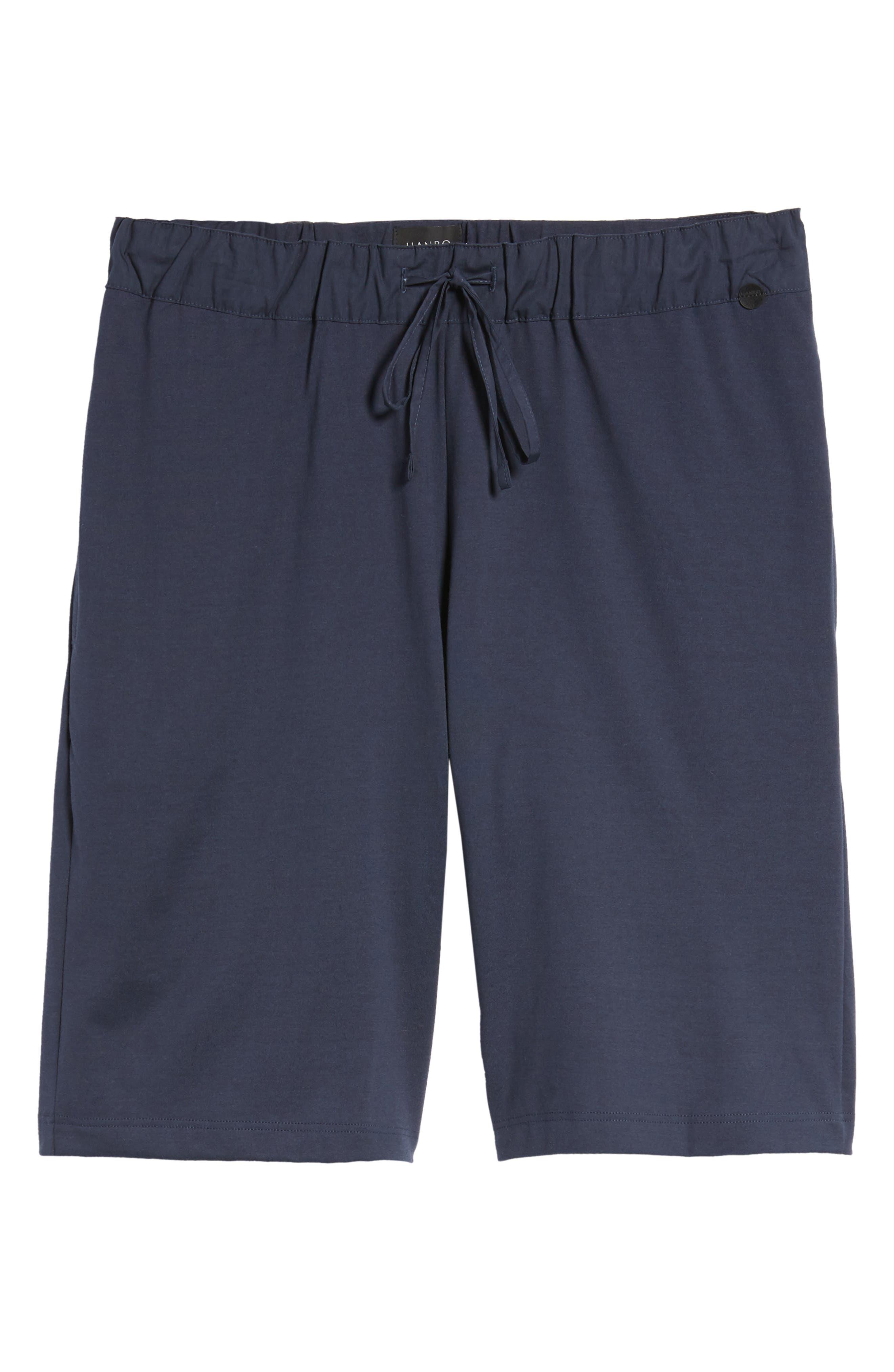 Night & Day Knit Shorts,                             Alternate thumbnail 6, color,                             BLACK IRIS