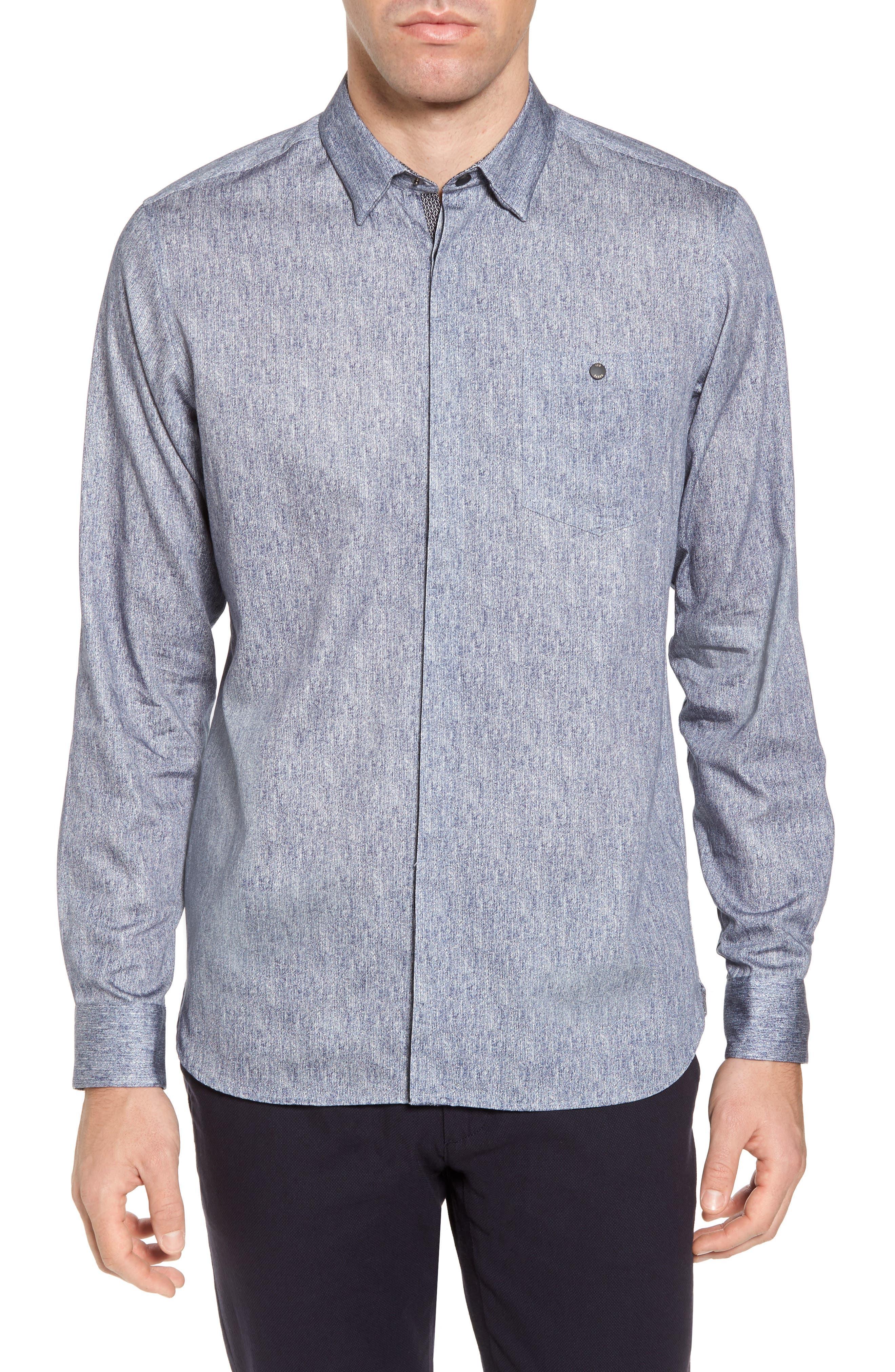 Lili Slim Fit Herringbone Sport Shirt,                         Main,                         color, 421