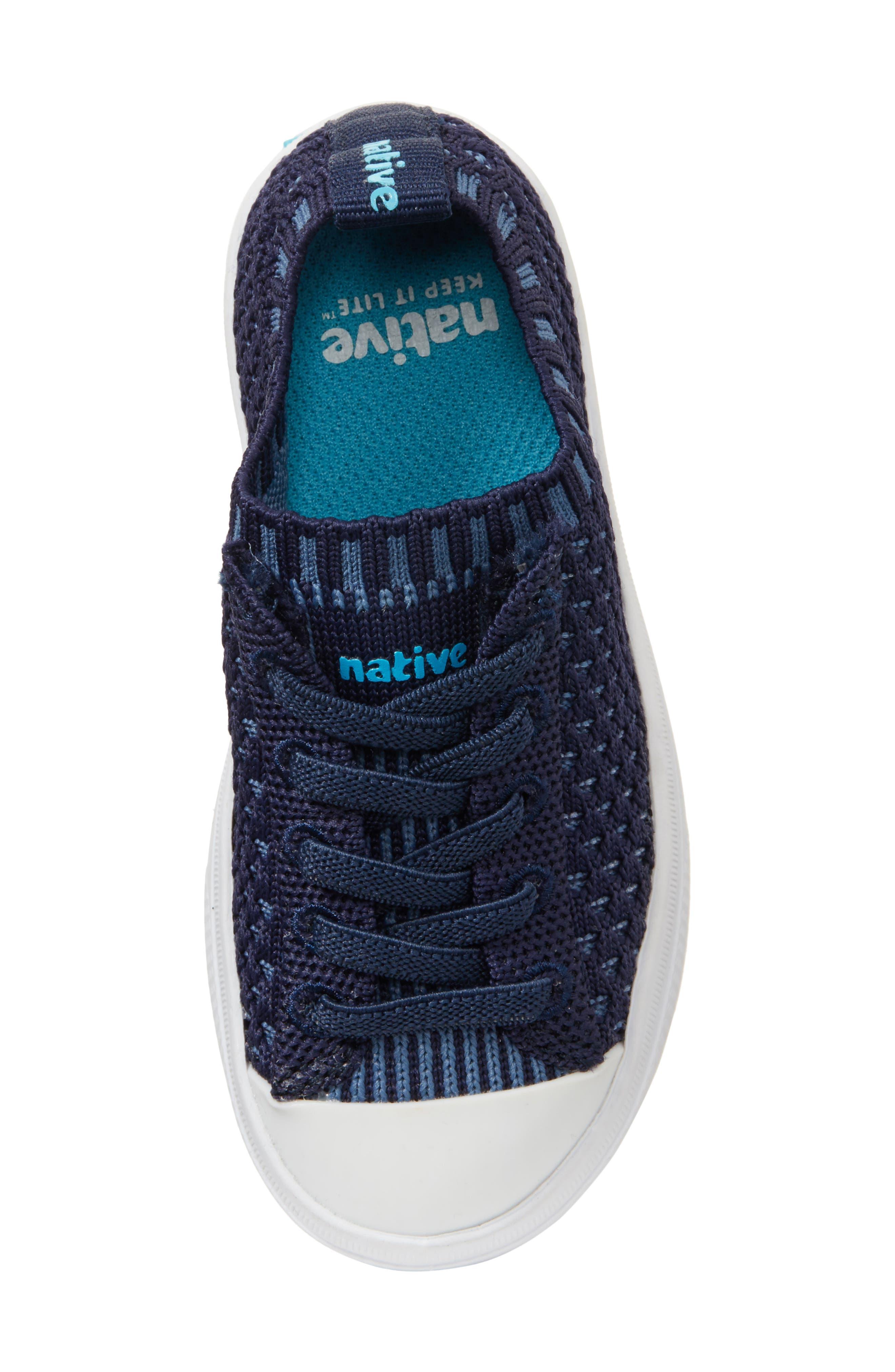 Native Jefferson 2.0 LiteKnit Sneaker,                             Alternate thumbnail 5, color,                             REGATTA BLUE/ SHELL WHITE