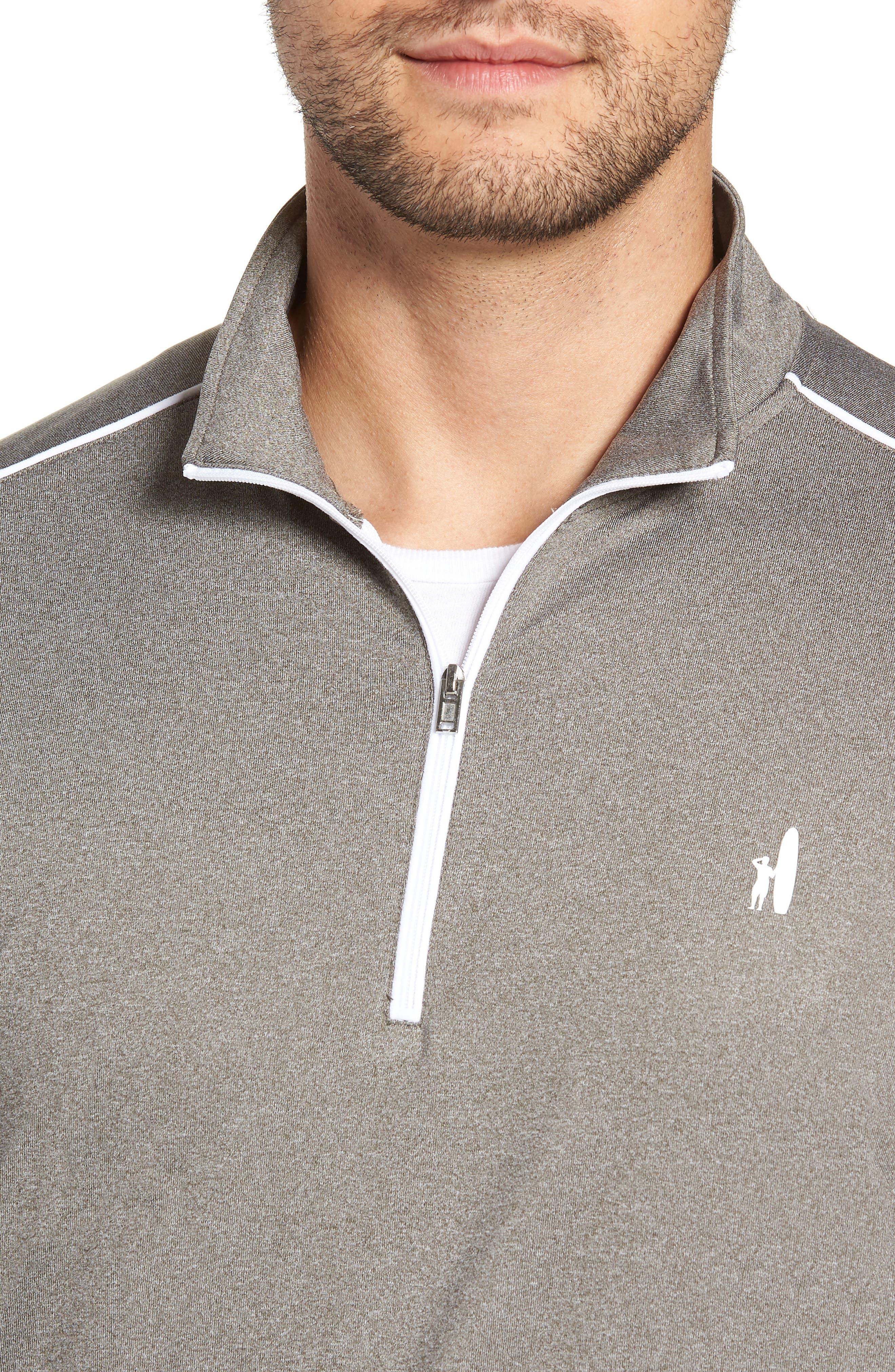 Lammie Regular Fit Quarter Zip Prep-Formance Pullover,                             Alternate thumbnail 4, color,                             METEOR
