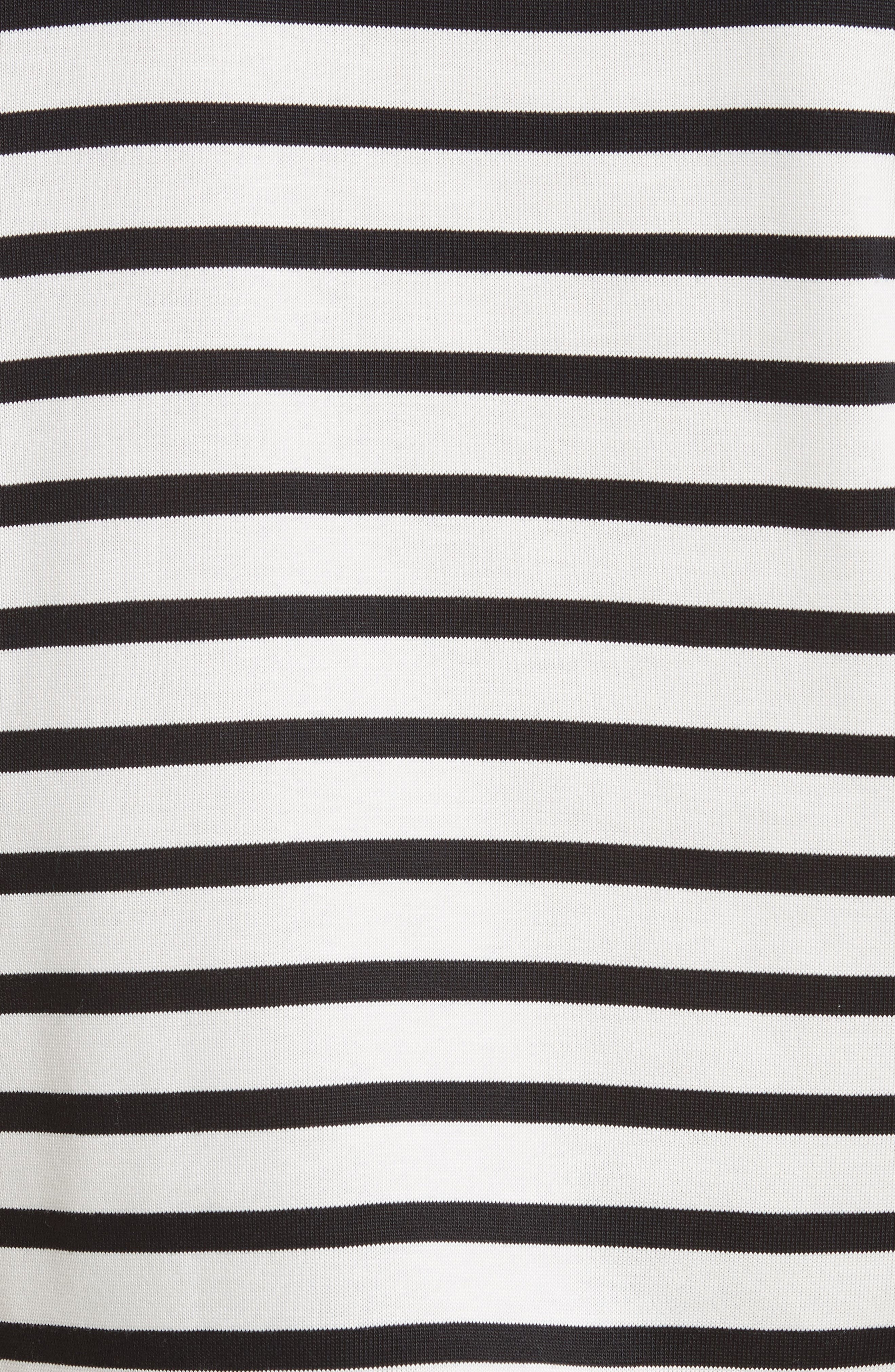Grosgrain Bow Stripe Tee,                             Alternate thumbnail 5, color,                             900