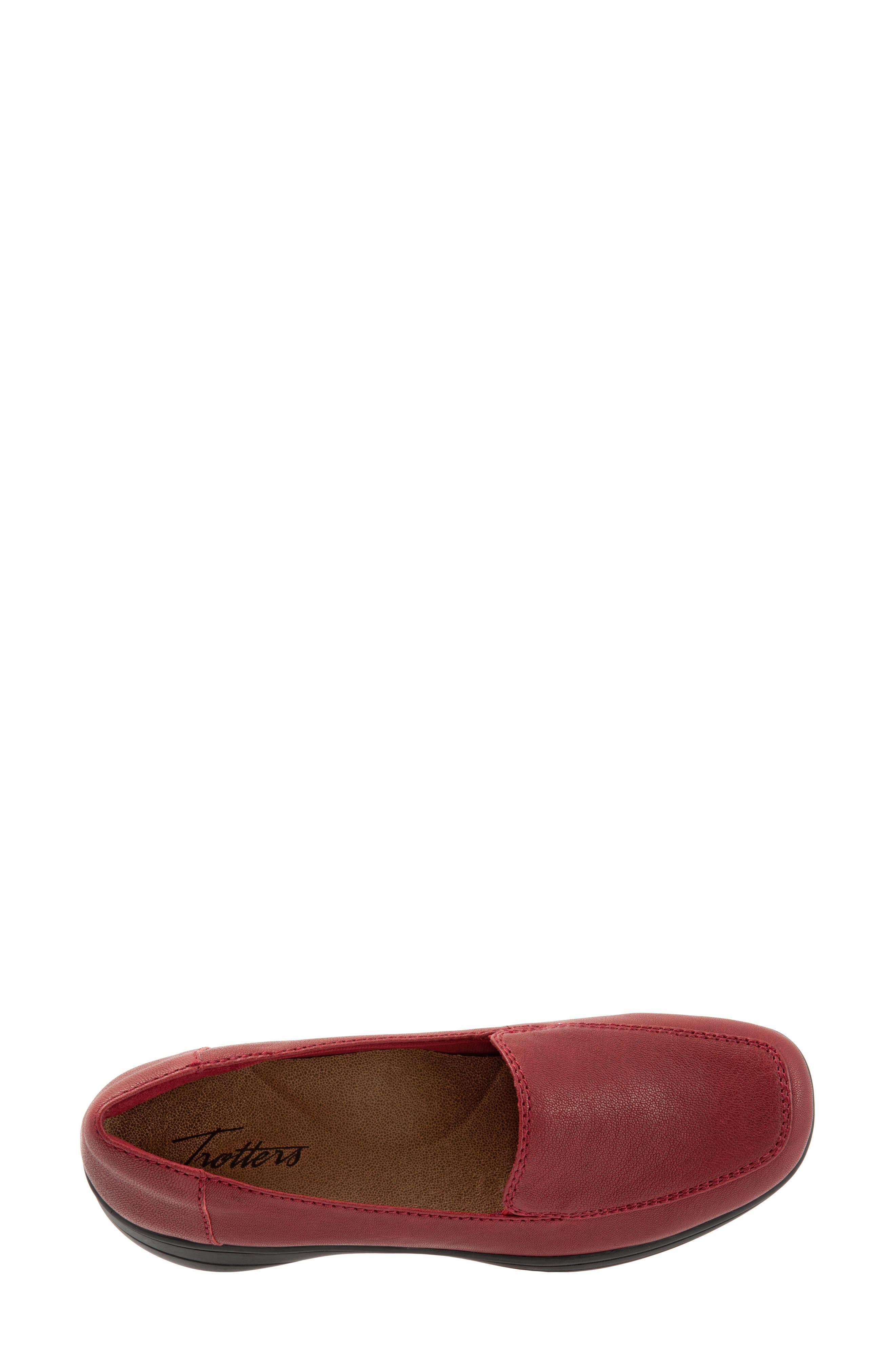 Jacob Loafer,                             Alternate thumbnail 5, color,                             DARK RED LEATHER