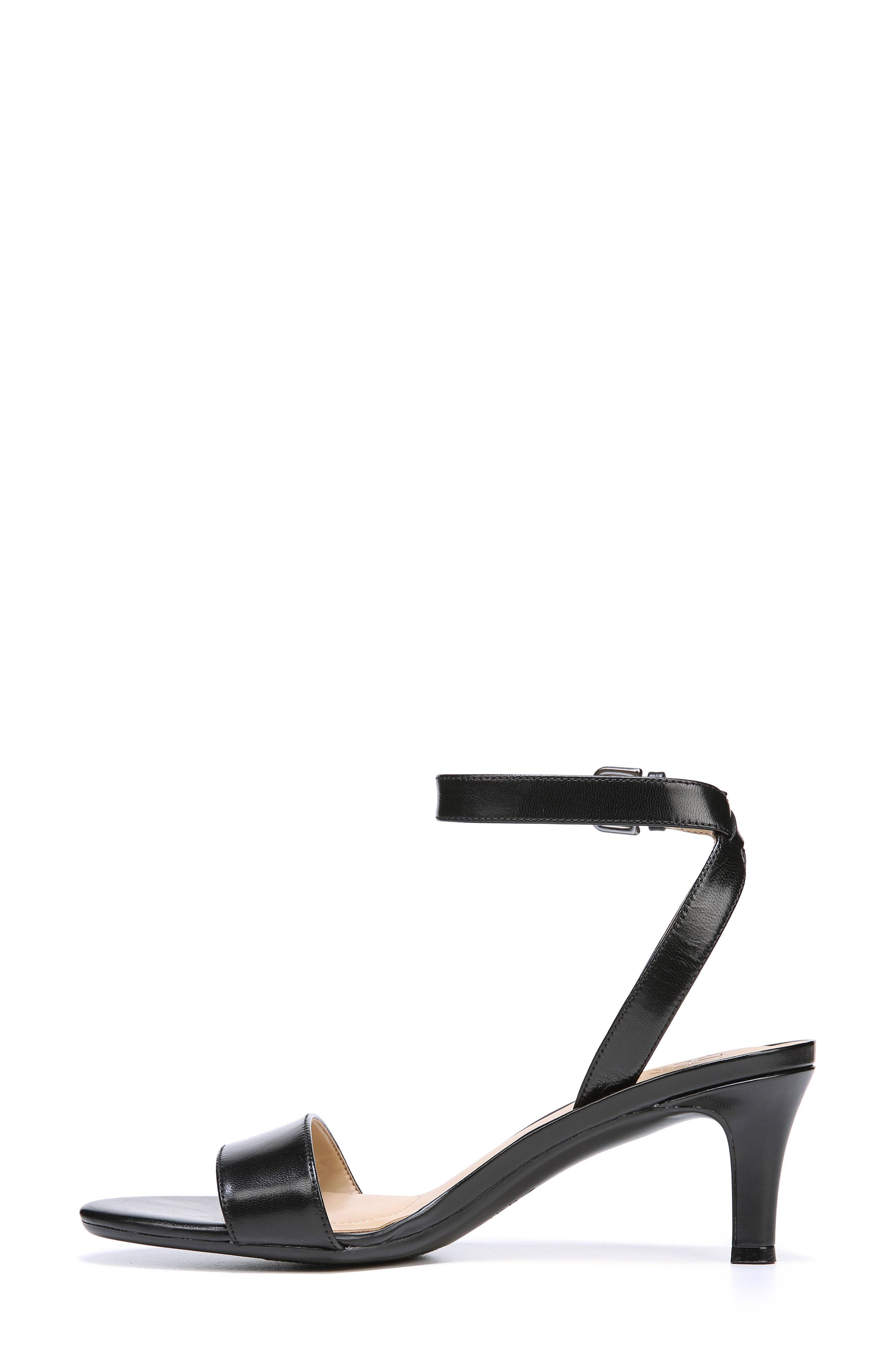 Tinda Sandal,                             Alternate thumbnail 3, color,                             BLACK LEATHER