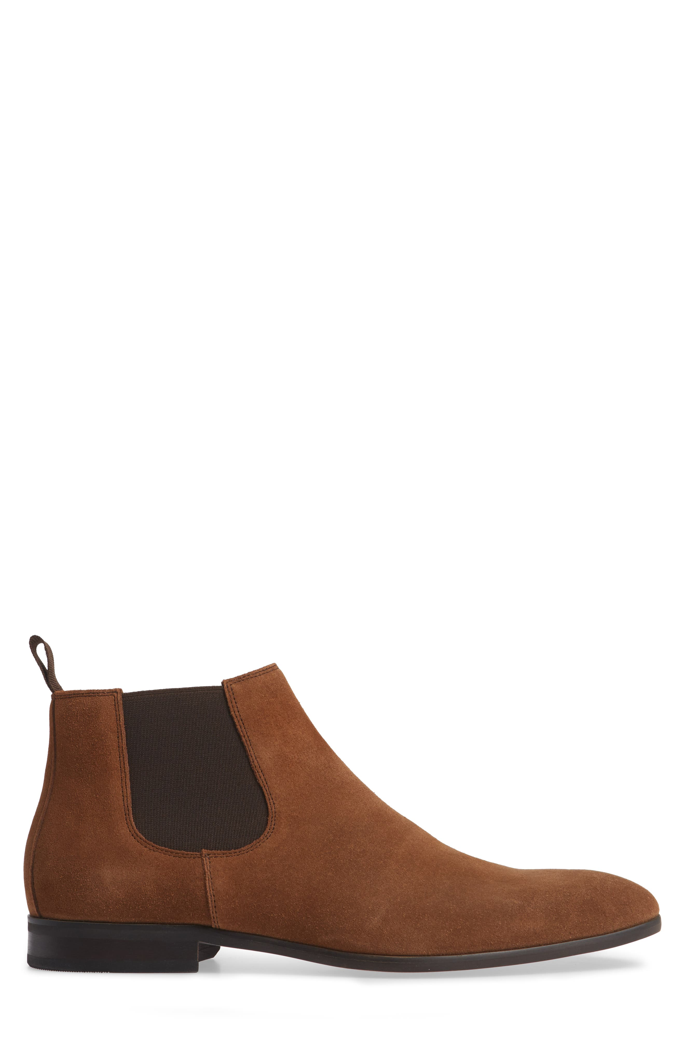 Edward Chelsea Boot,                             Alternate thumbnail 3, color,                             CHESTNUT SUEDE