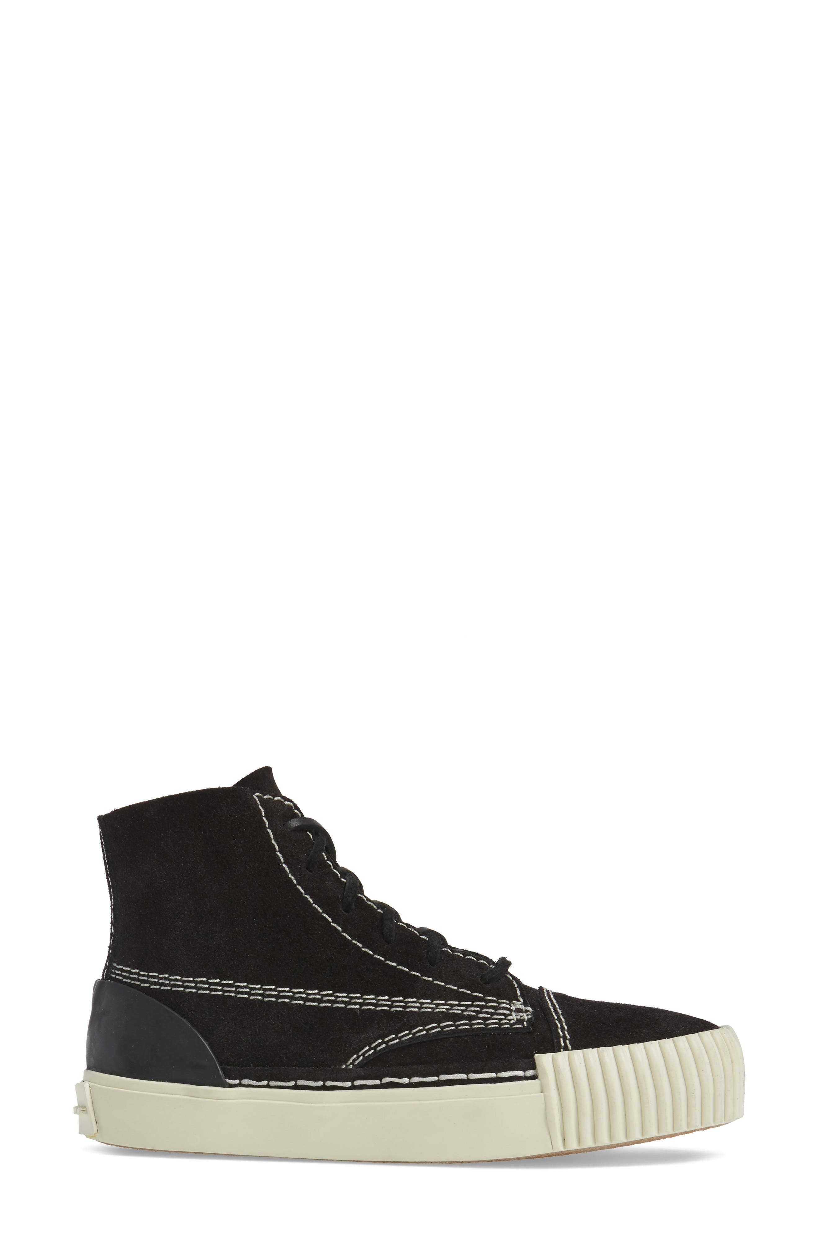 'Perry' Suede High Top Sneaker,                             Alternate thumbnail 3, color,                             001