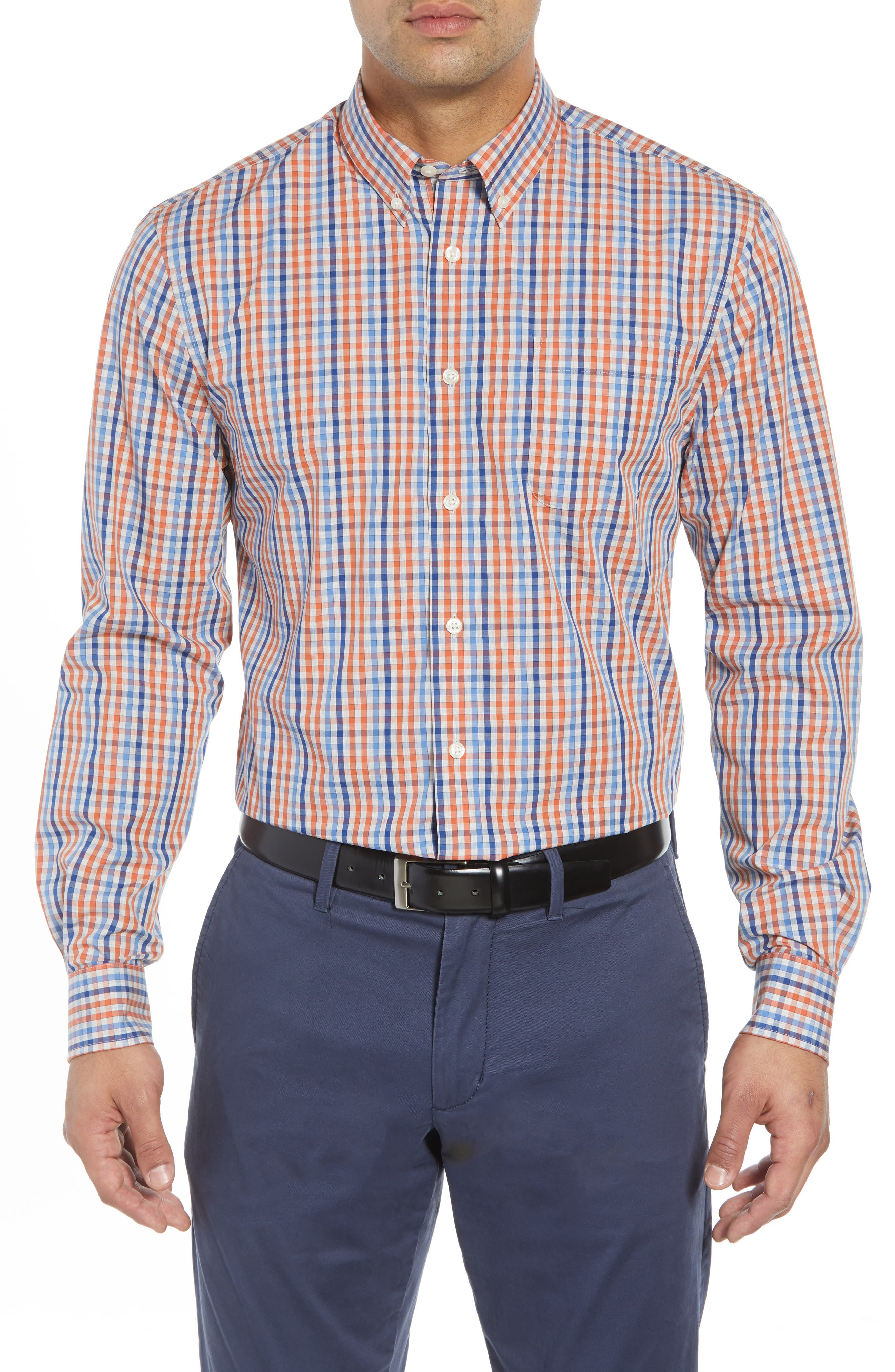 Rawlings Classic Fit Sport Shirt,                         Main,                         color, MARINER