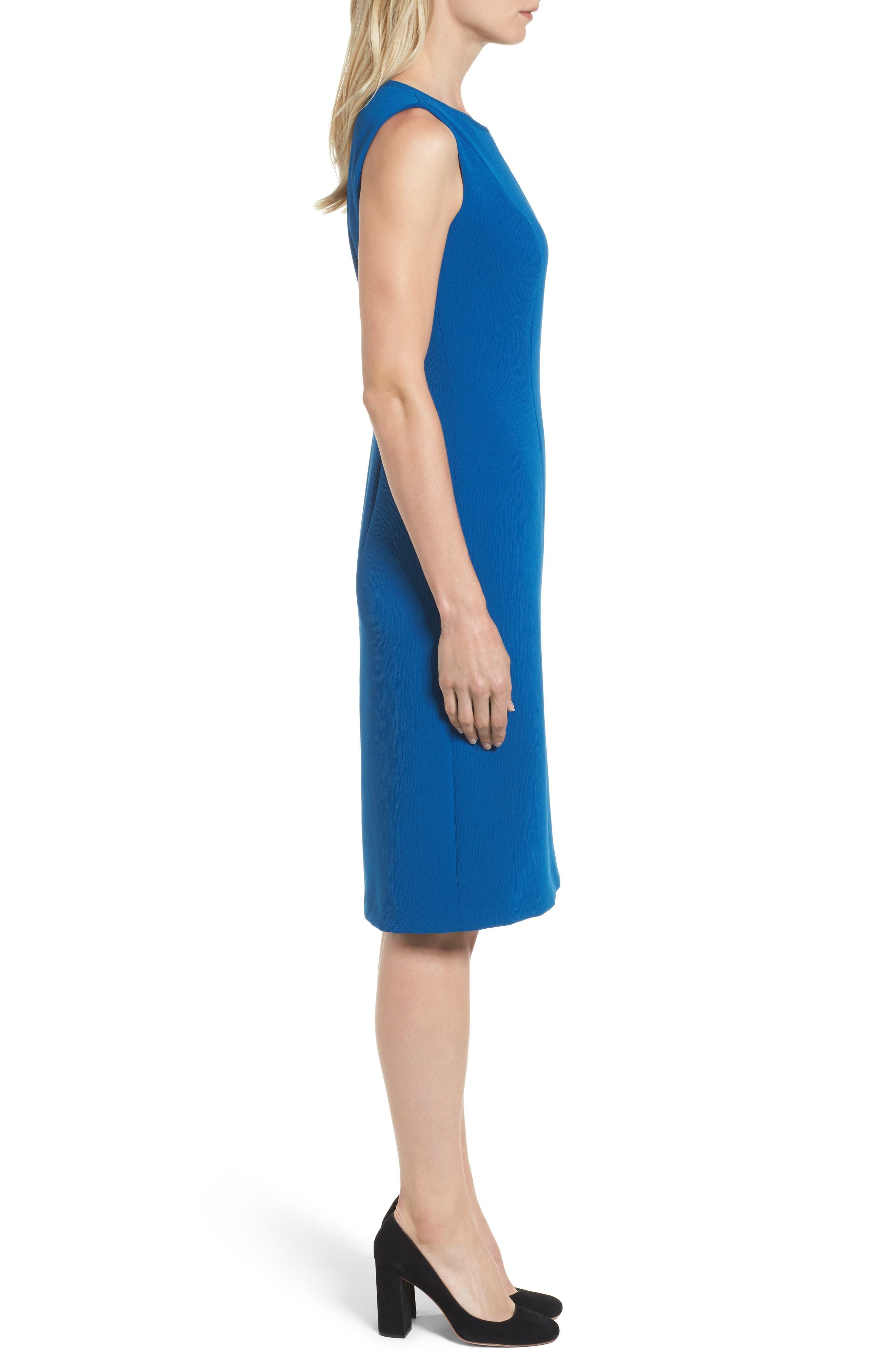 Danafea Zip Detail Sheath Dress,                             Alternate thumbnail 3, color,                             424