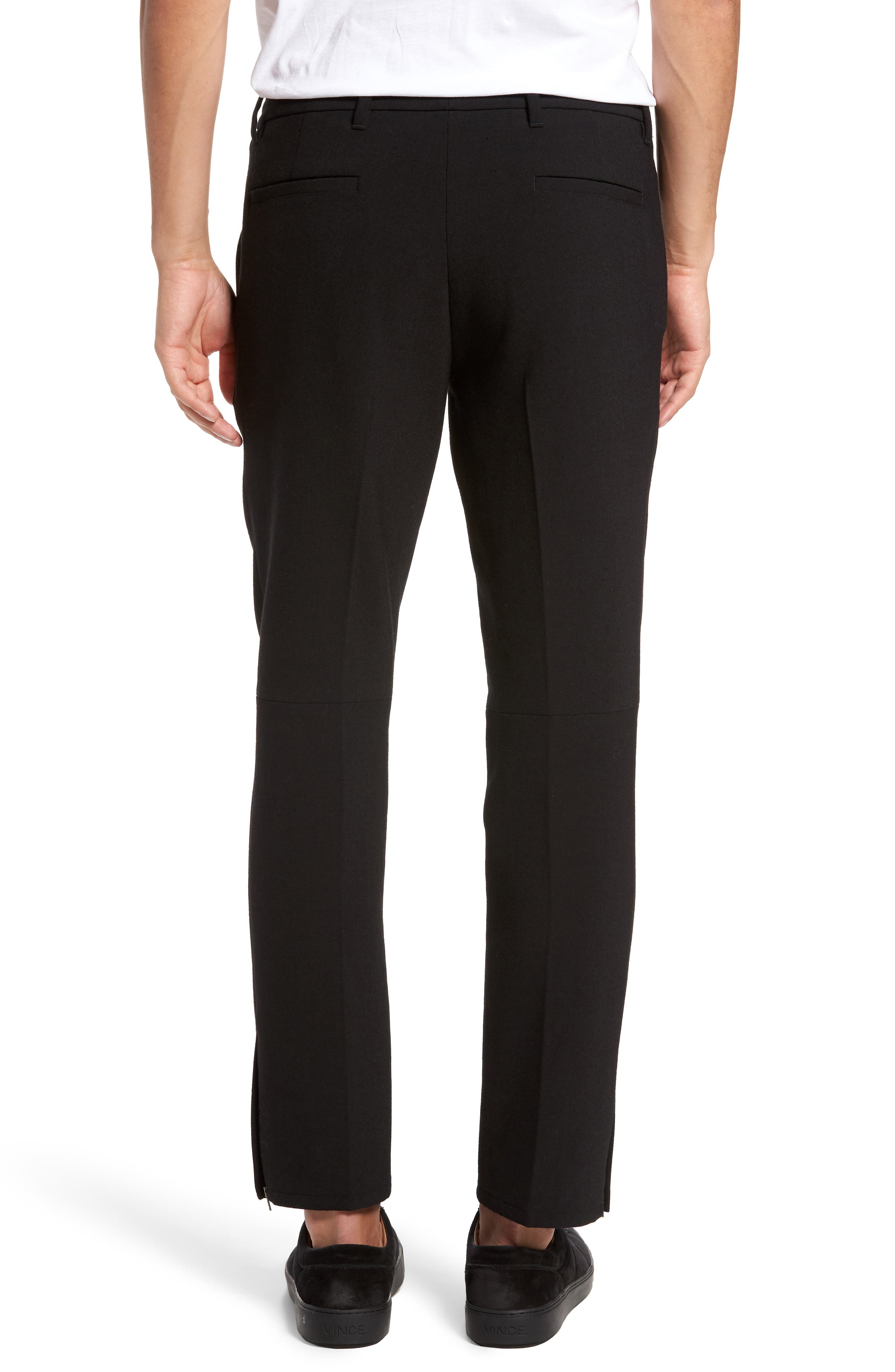 Zip Hem Slim Fit Trousers,                             Alternate thumbnail 2, color,