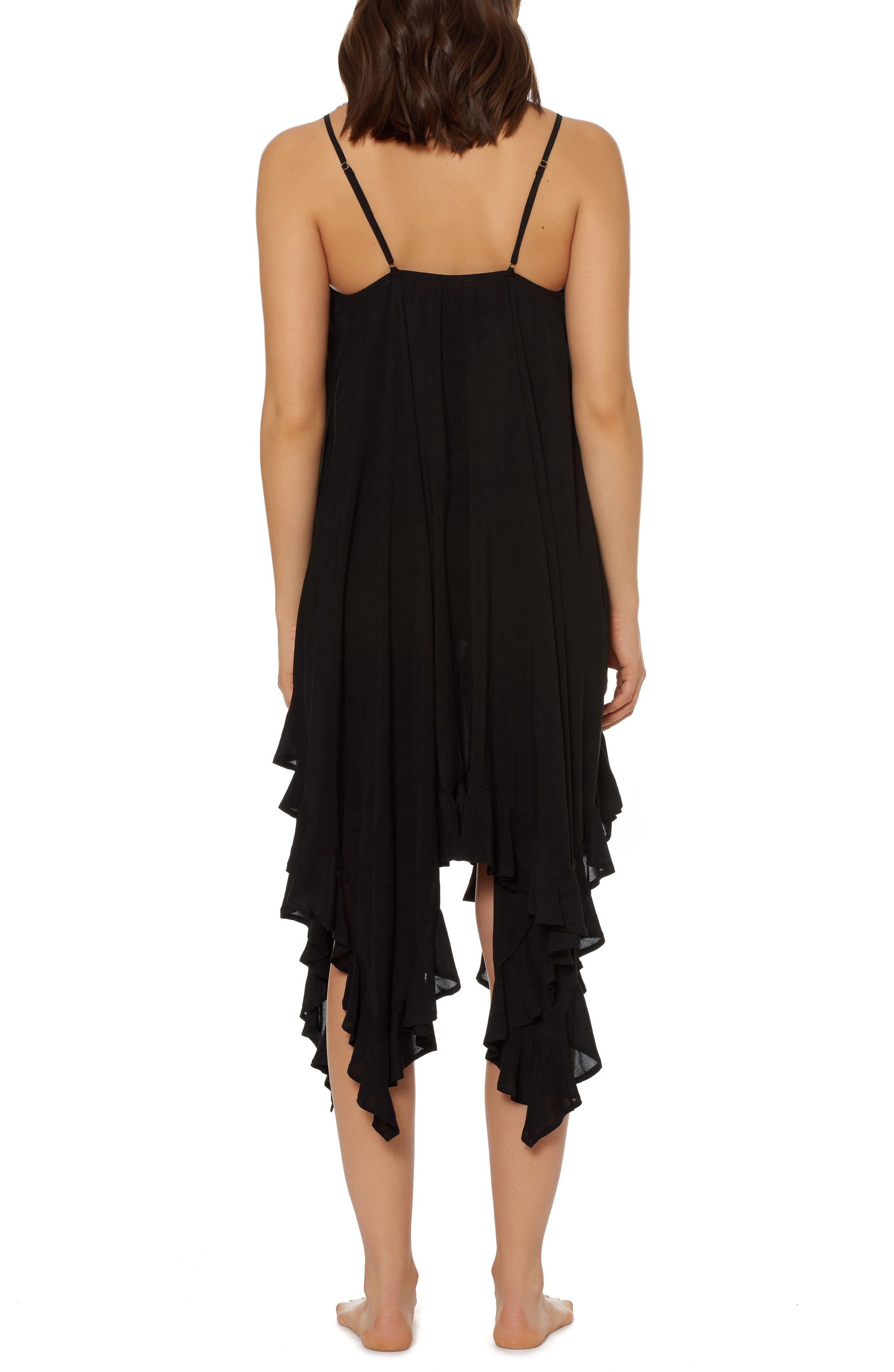 BLEU by Rod Beattie Handkerchief Hem Cover-Up Dress,                             Alternate thumbnail 2, color,                             001
