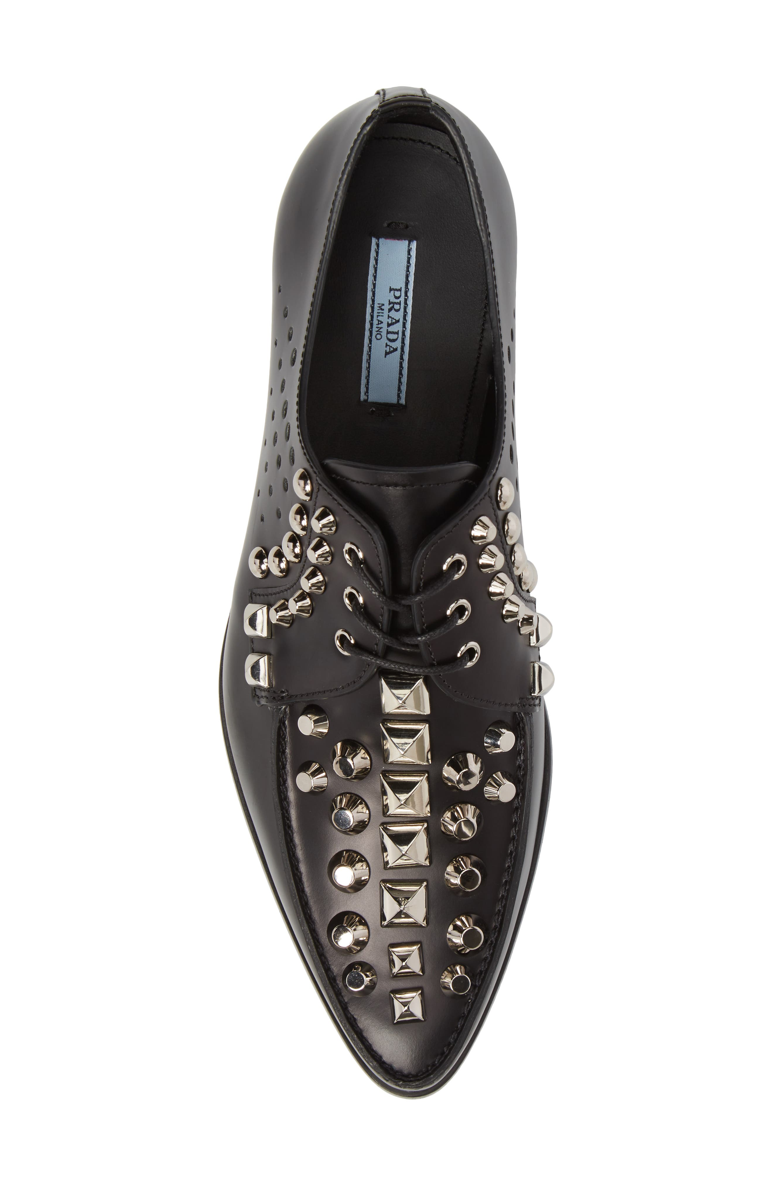 Studded Pointy Toe Oxford,                             Alternate thumbnail 5, color,