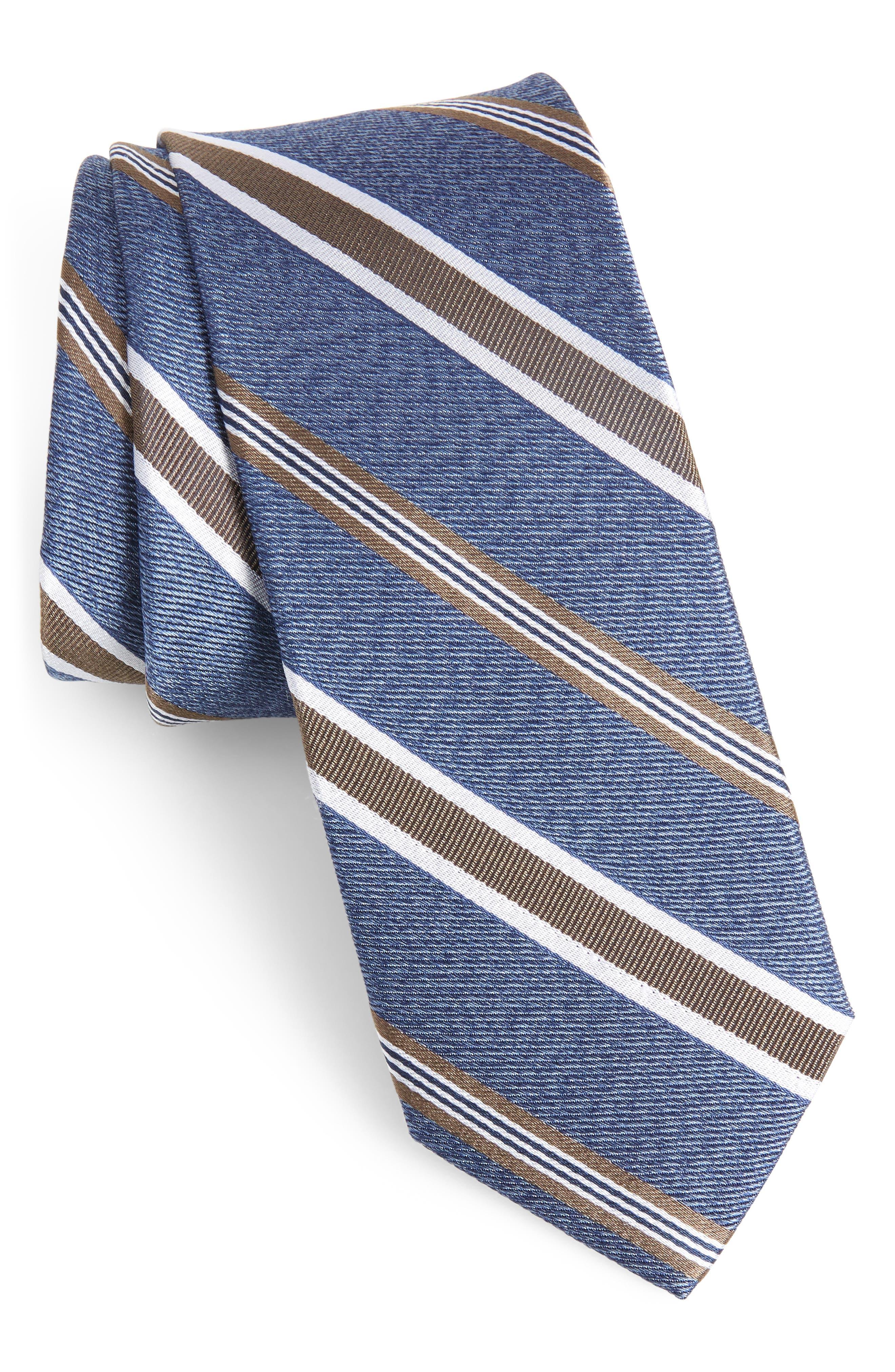 Astible Stripe Silk Tie,                         Main,                         color, 260