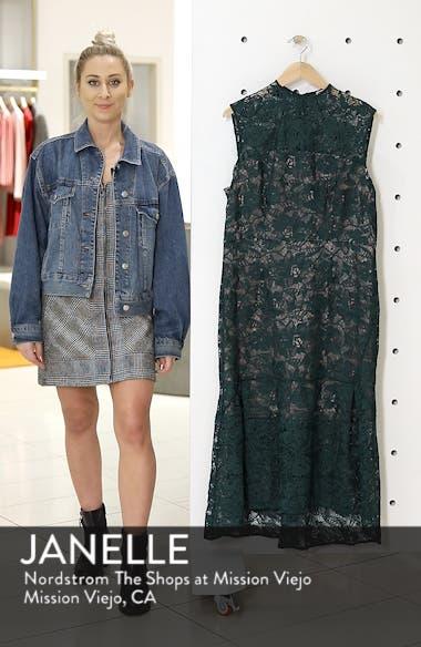 Lace Mock Neck Midi Dress, sales video thumbnail