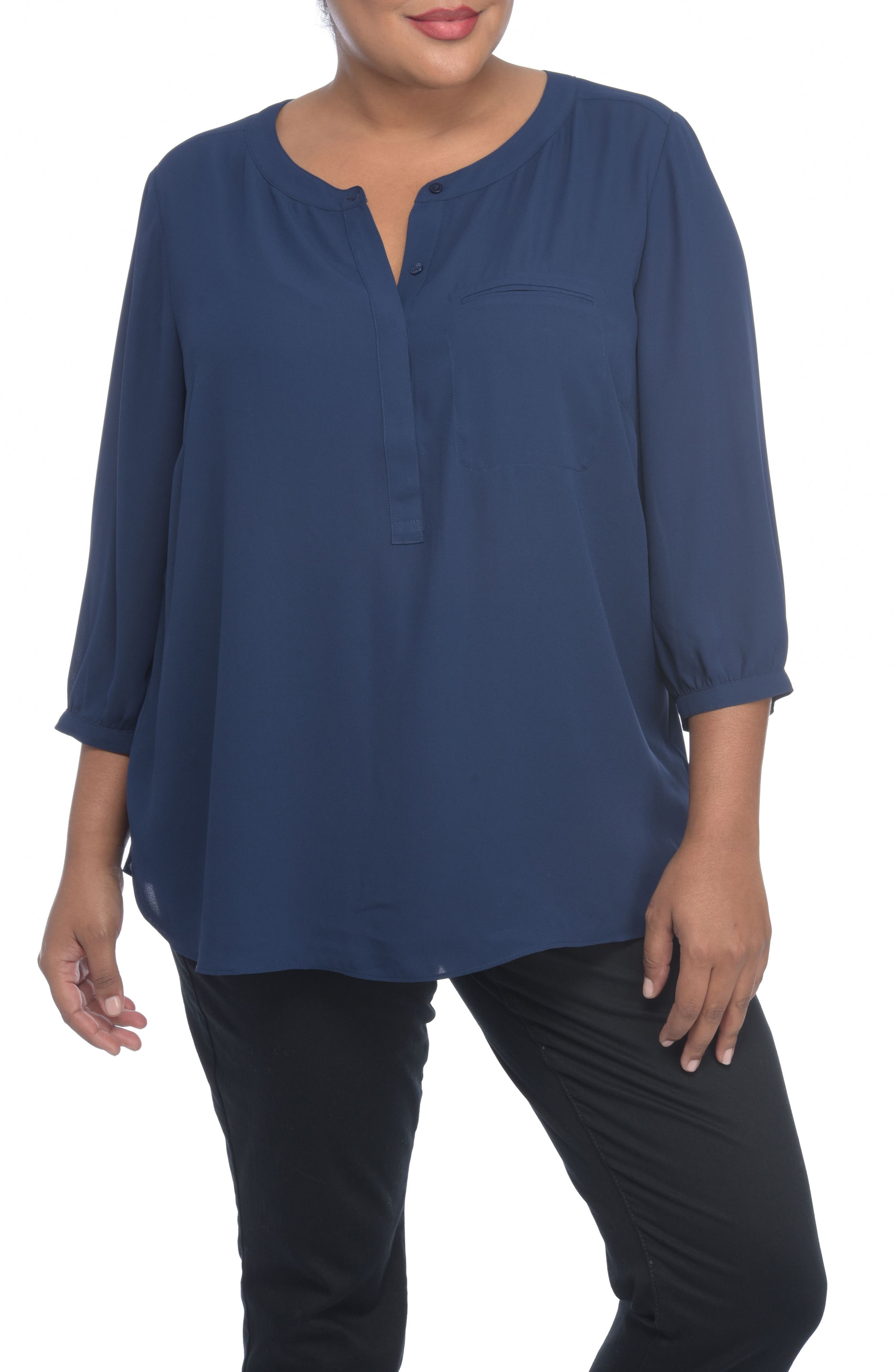Henley Top,                             Alternate thumbnail 128, color,