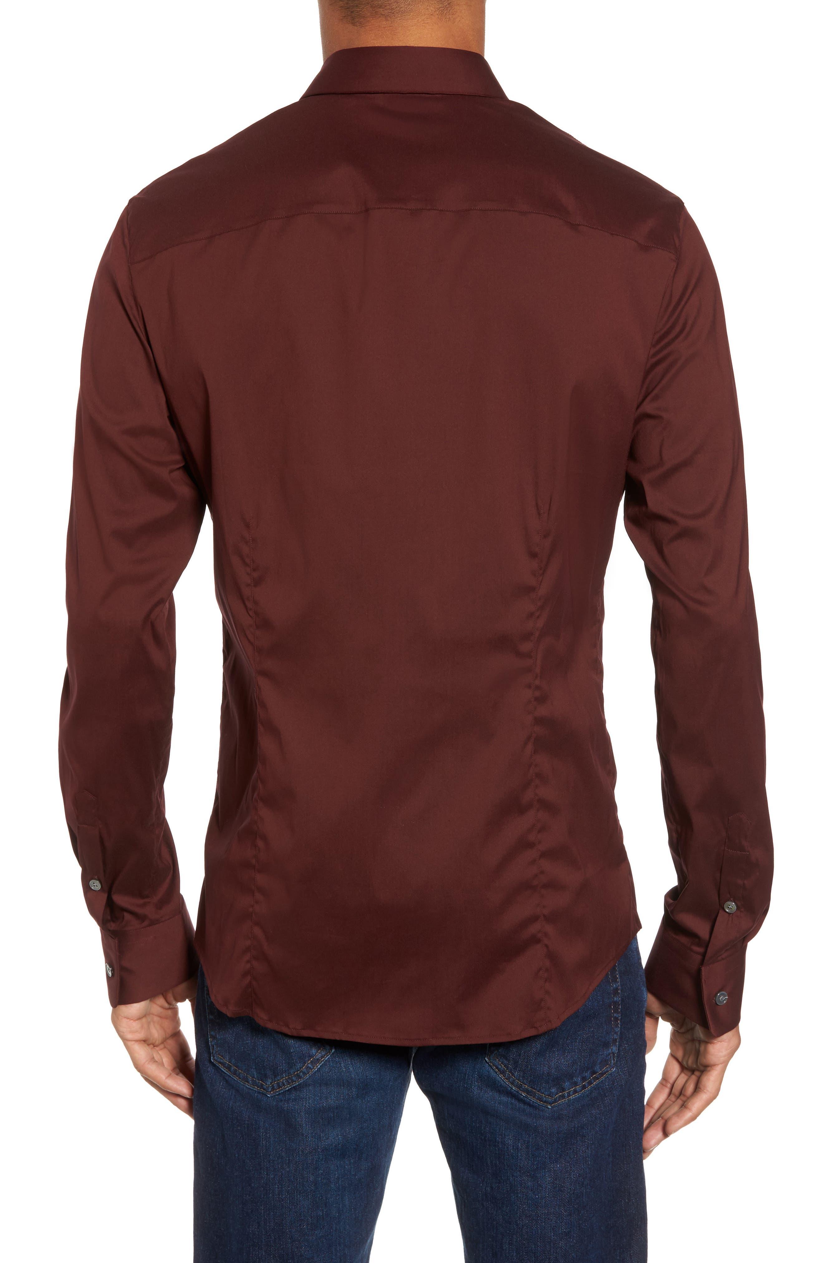 Matte Stretch Poplin Sport Shirt,                             Alternate thumbnail 4, color,