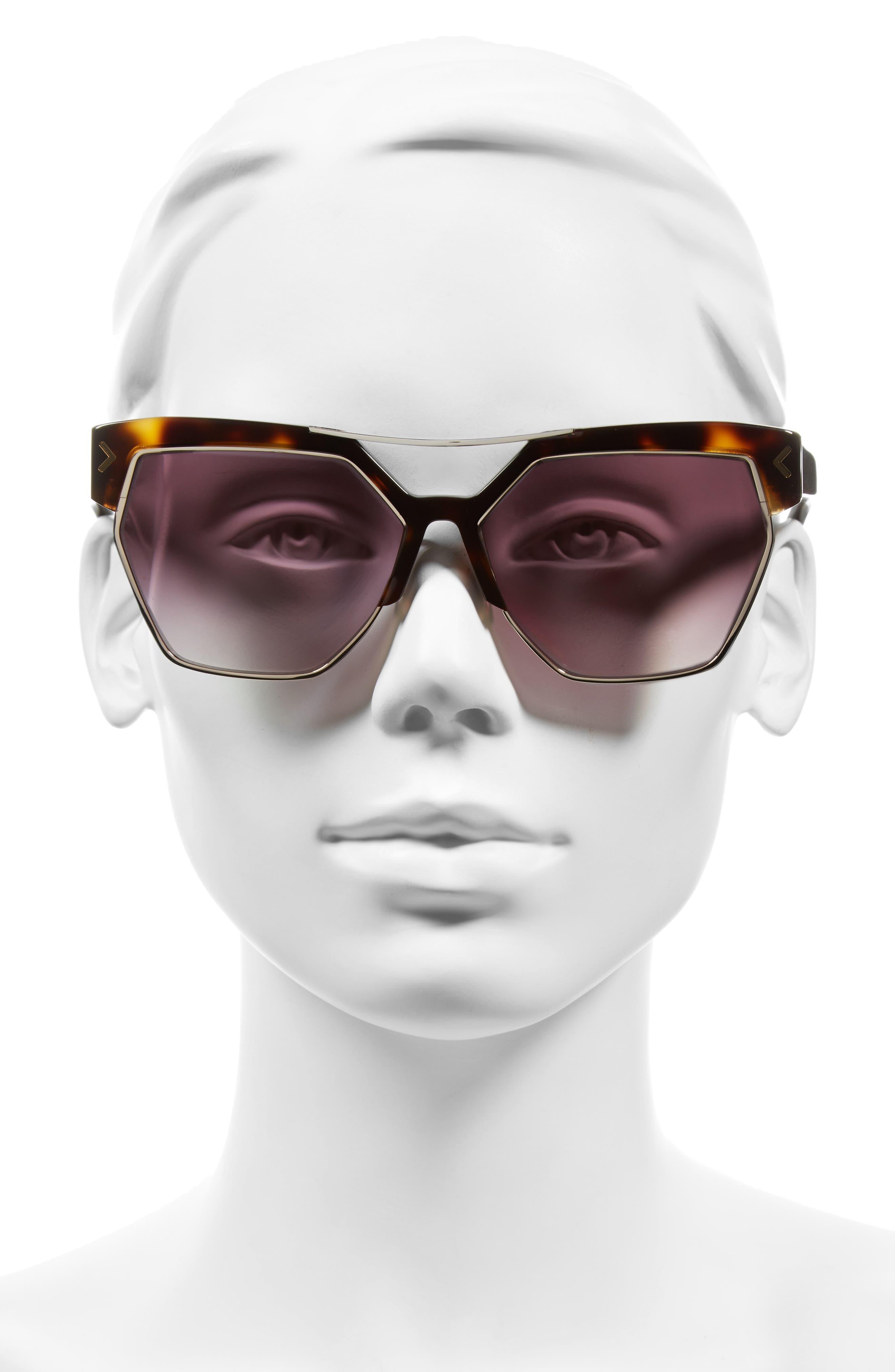 55mm Retro Sunglasses,                             Alternate thumbnail 9, color,
