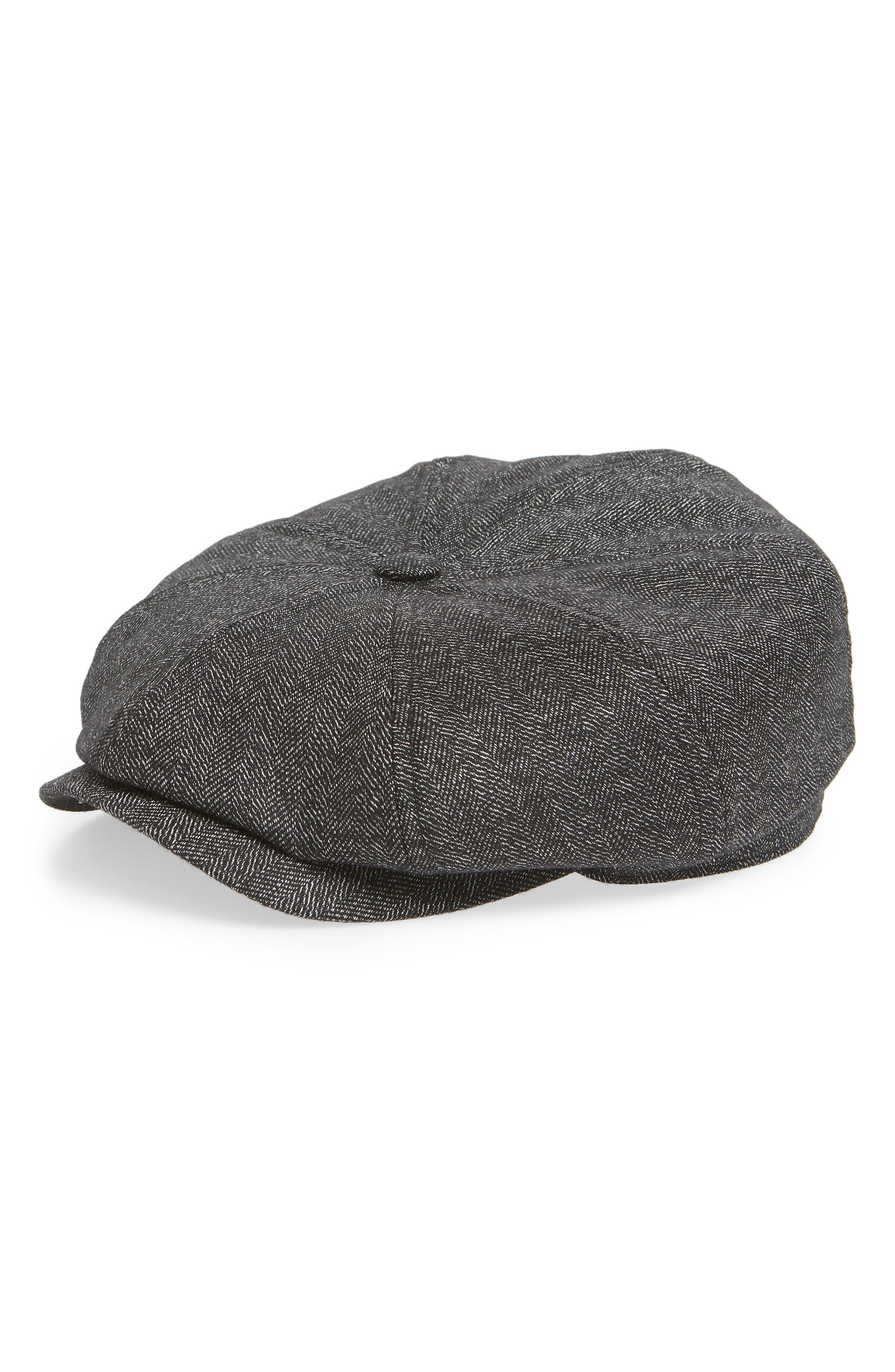 Herringbone Baker Boy Hat,                             Main thumbnail 1, color,                             020