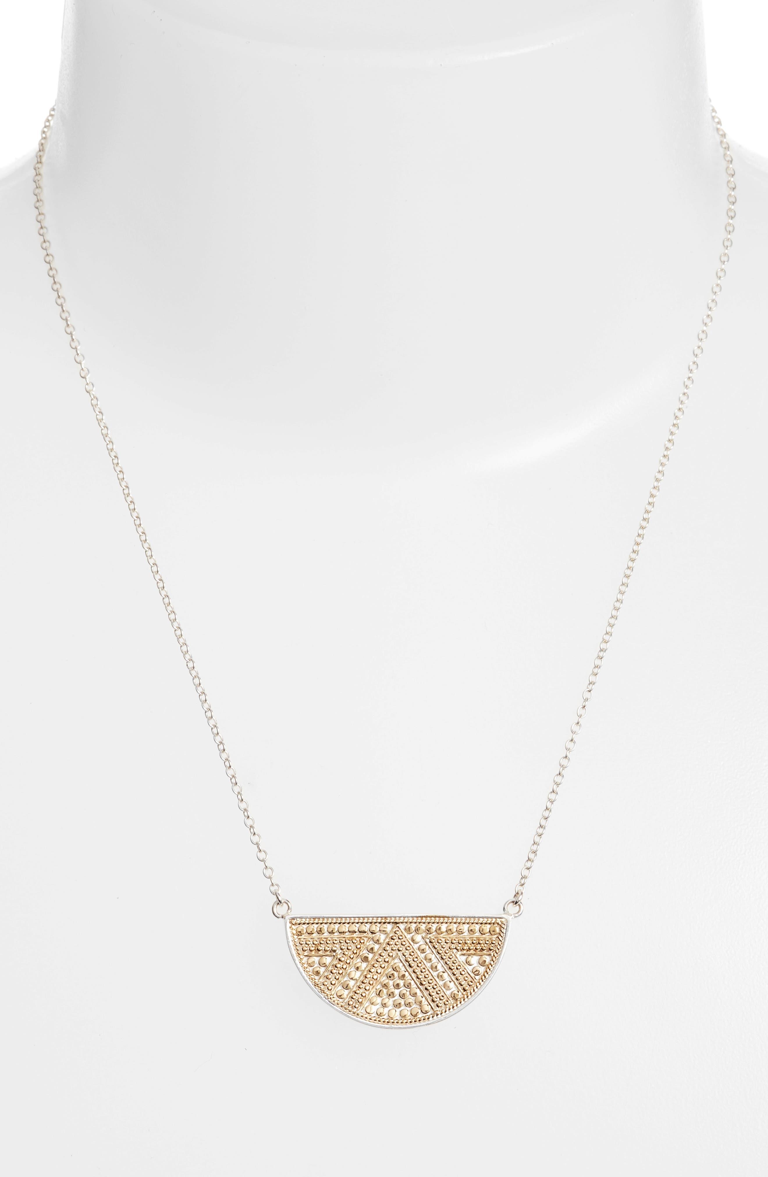 Reversible Pendant Necklace,                             Alternate thumbnail 2, color,                             GOLD/ SILVER