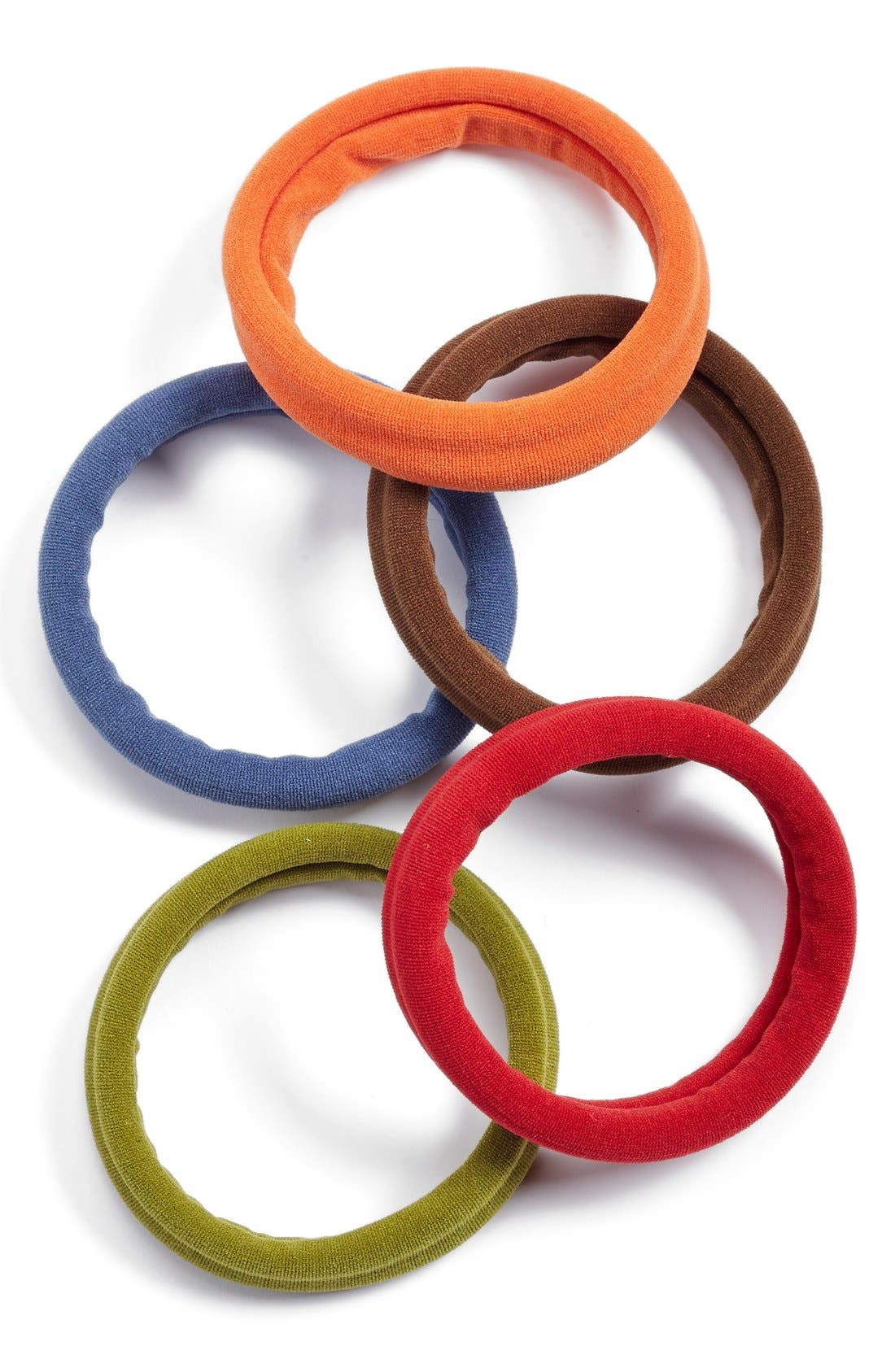 Set of 5 Sport Ponytail Holders,                             Main thumbnail 18, color,
